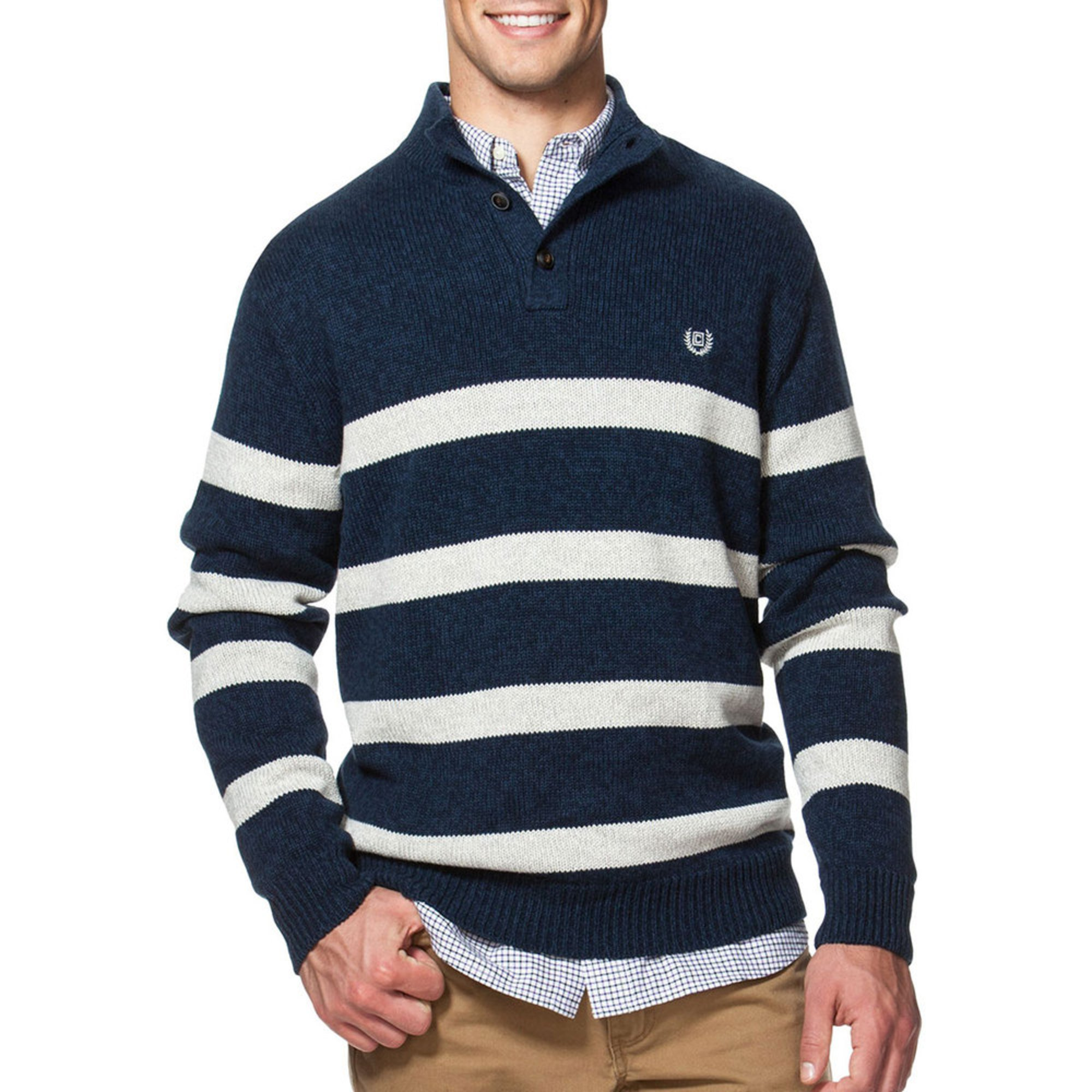 how to add stripes to a sweater