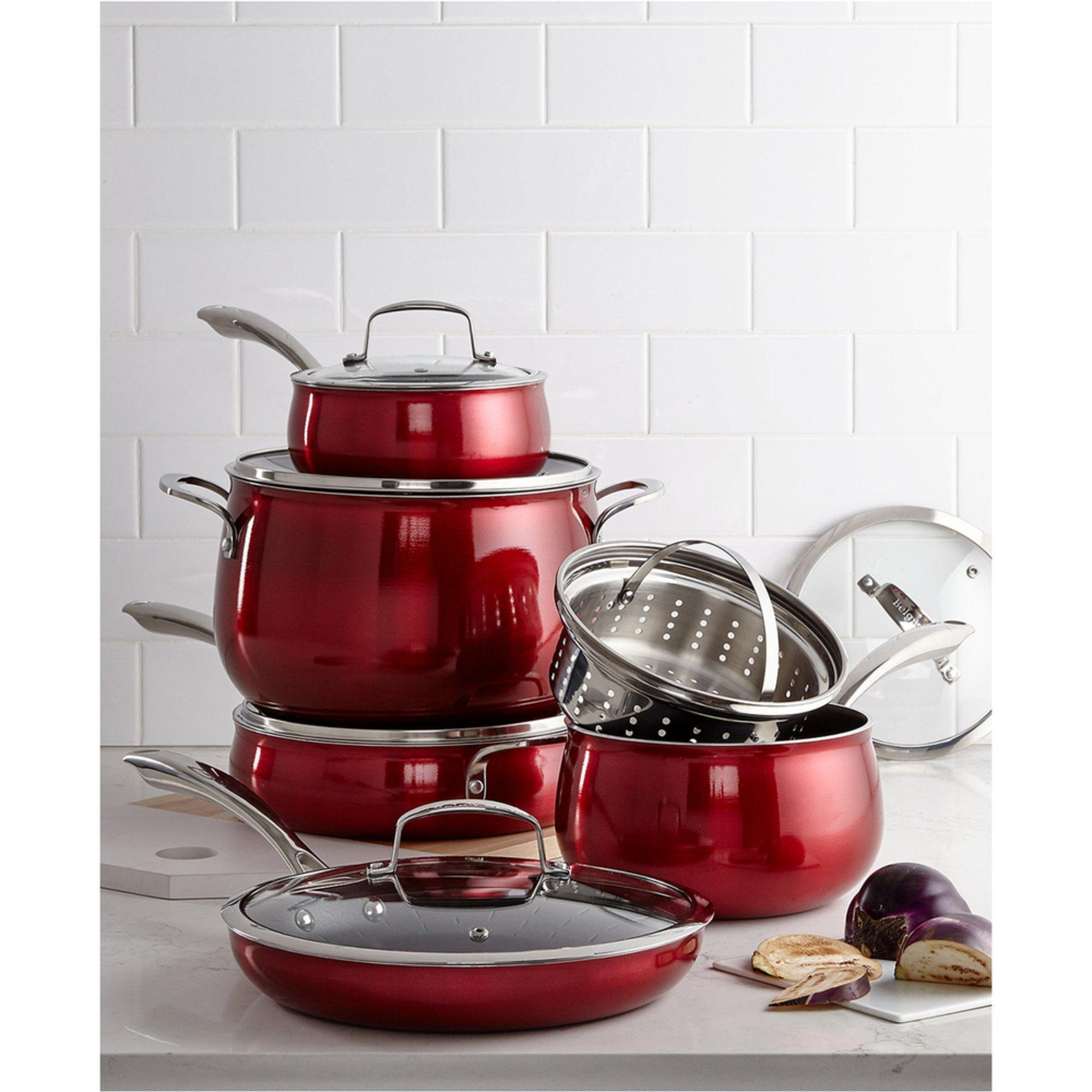 Belgique Aluminum 11-piece Cookware Set, Red | Cookware Sets