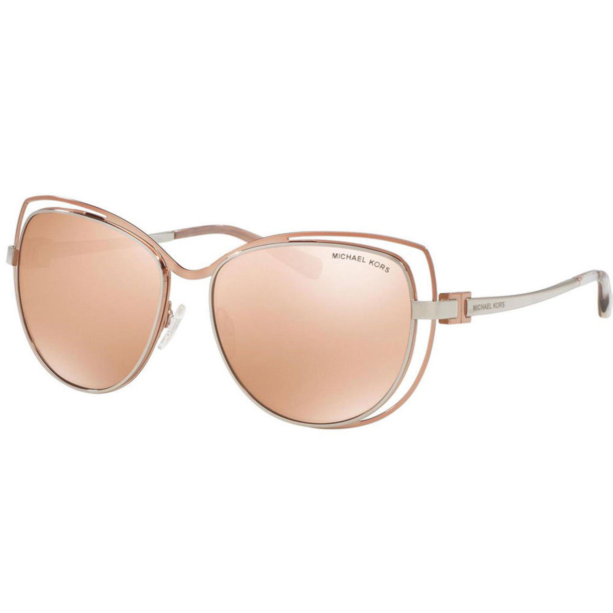 michael kors women 39 s silver rose gold rose gold flash sunglasses 58mm women 39 s sunglasses. Black Bedroom Furniture Sets. Home Design Ideas