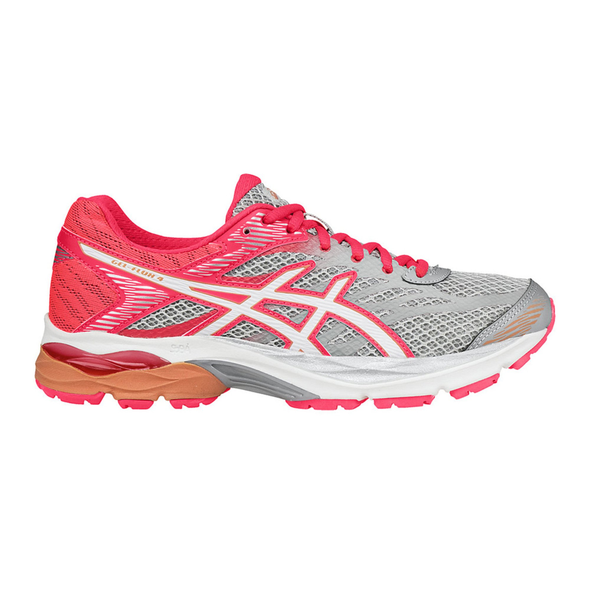 asics gel flux 4 women 39 s running shoe white diva pink. Black Bedroom Furniture Sets. Home Design Ideas