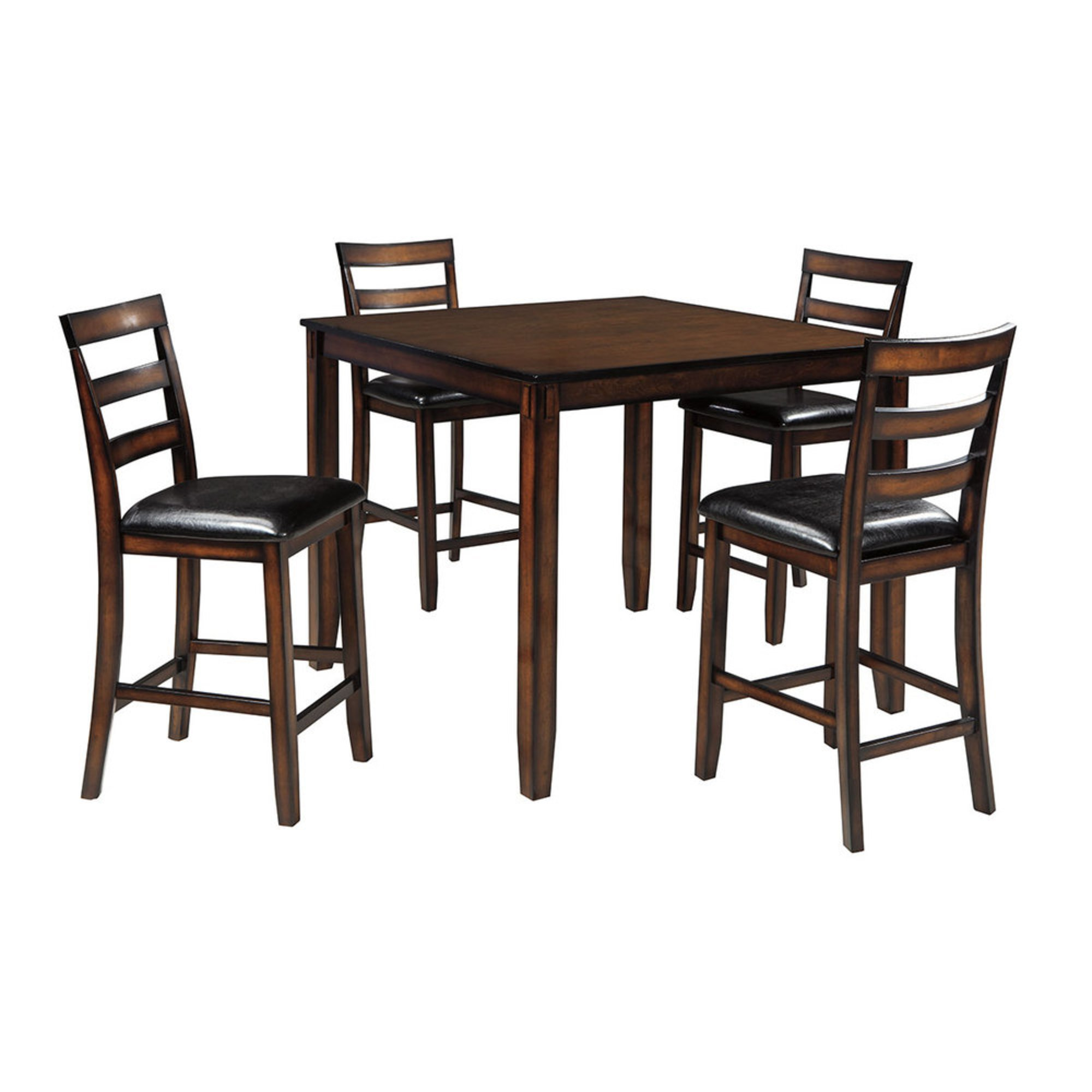 Signature Design by Ashley Coviar Counter Height Dining Room Table and Bar  Stools Set