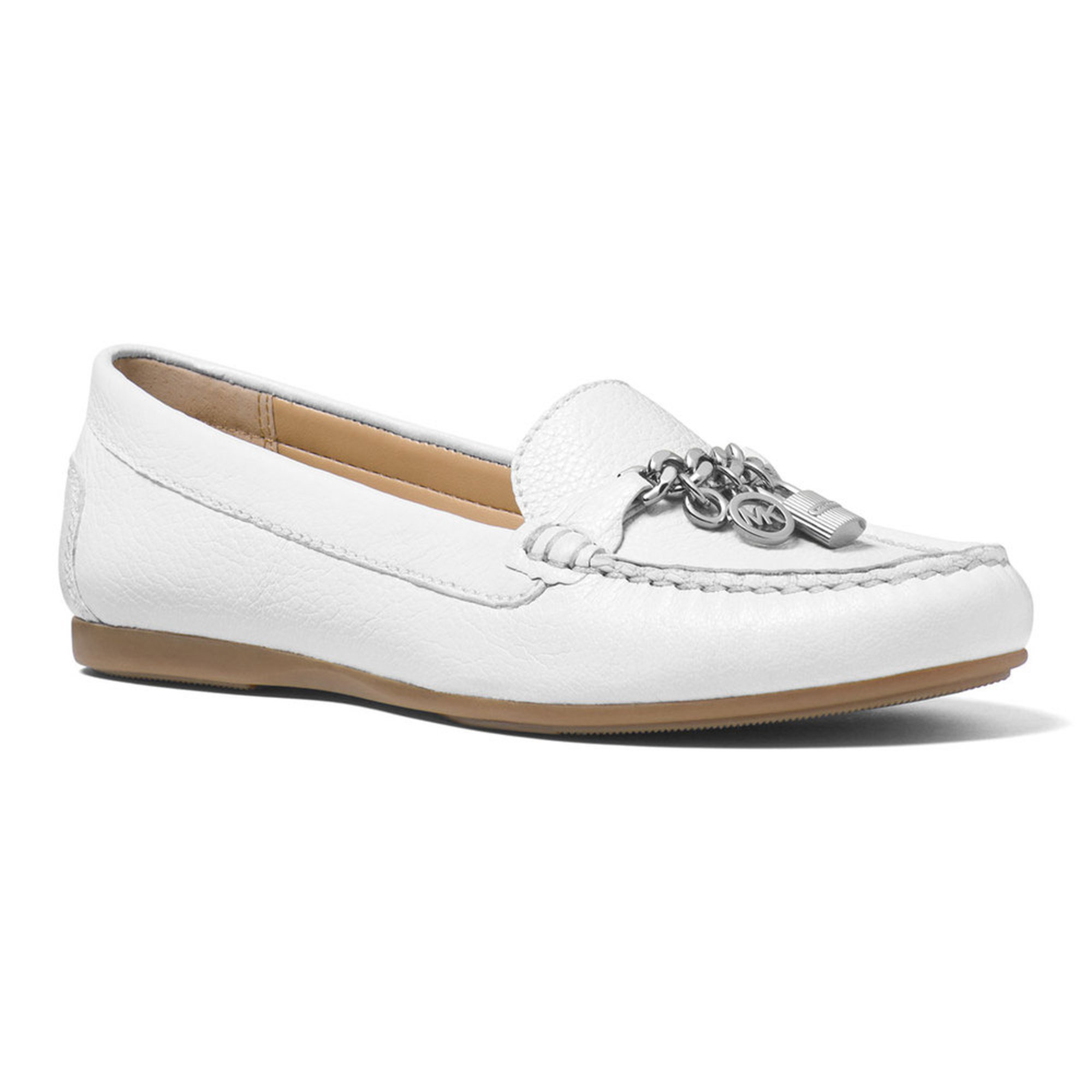 michael kors suki moc s slip on shoe tumbled leather