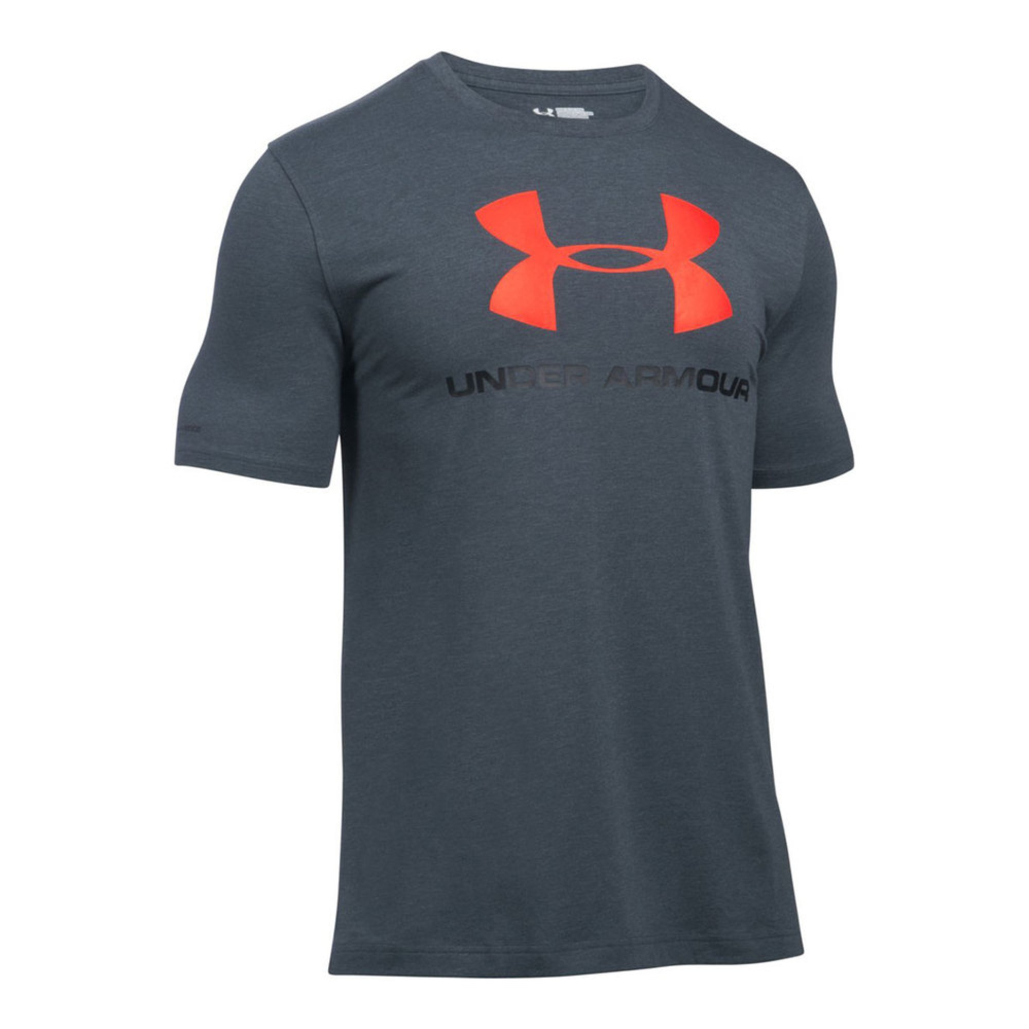 Under armour men 39 s sportstyle logo tee stealth grey men for Under armour men s shirts clearance