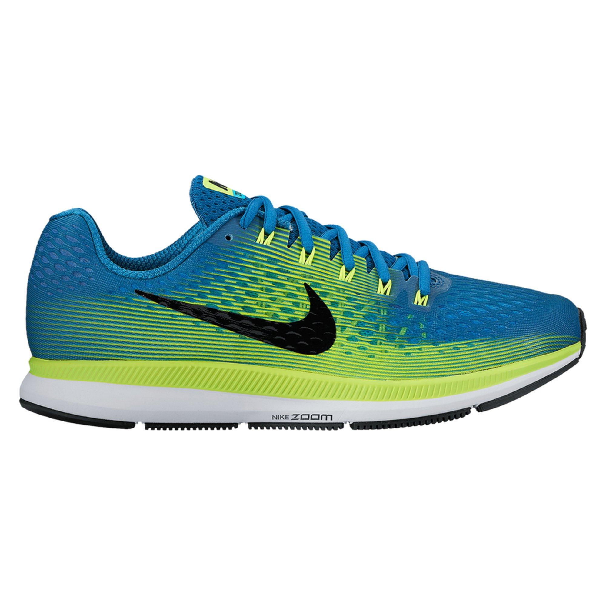 Nike Air Zoom Pegasus 34 Men's Running Shoe Industrial Blue/ Black/ Volt/  Chlorine Blue   Shoes - Shop Your Navy Exchange - Official Site