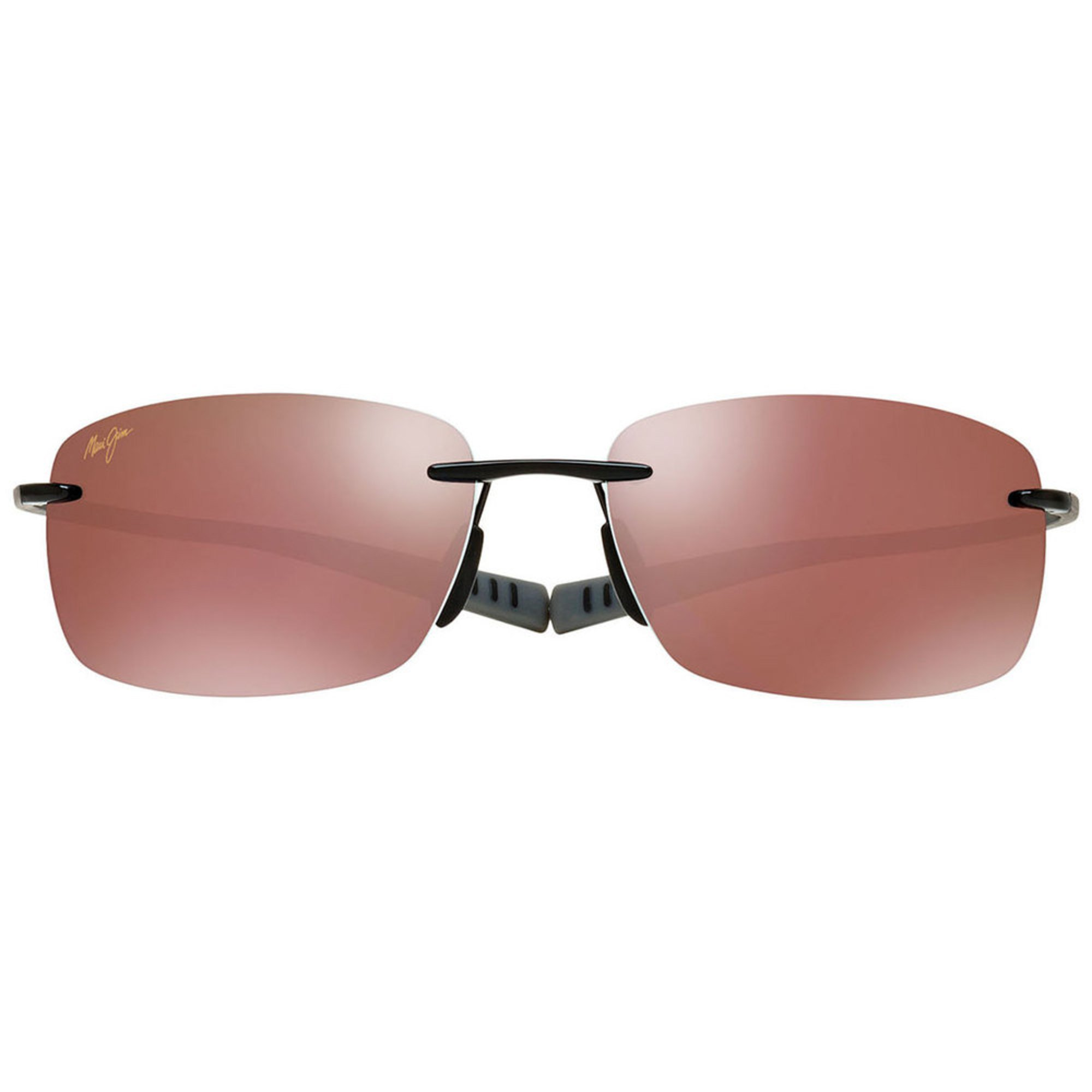 e9399a47e4c2 Maui Jim Unisex Kumu Gloss Black Polarized Rimless Sunglasses ...
