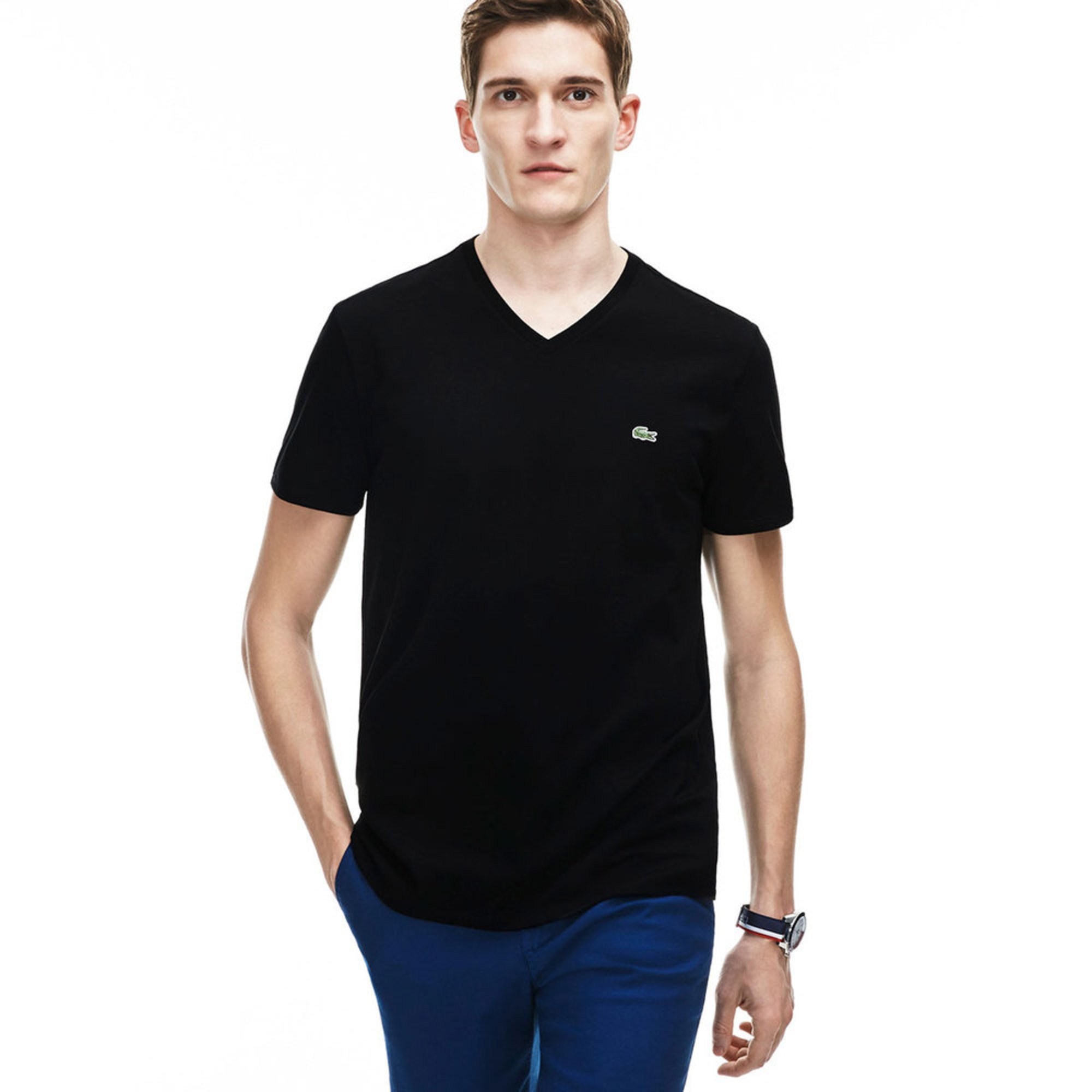 ed43393a Lacoste Men's V-neck Tee | Casual & Dress Tees | Apparel - Shop Your ...
