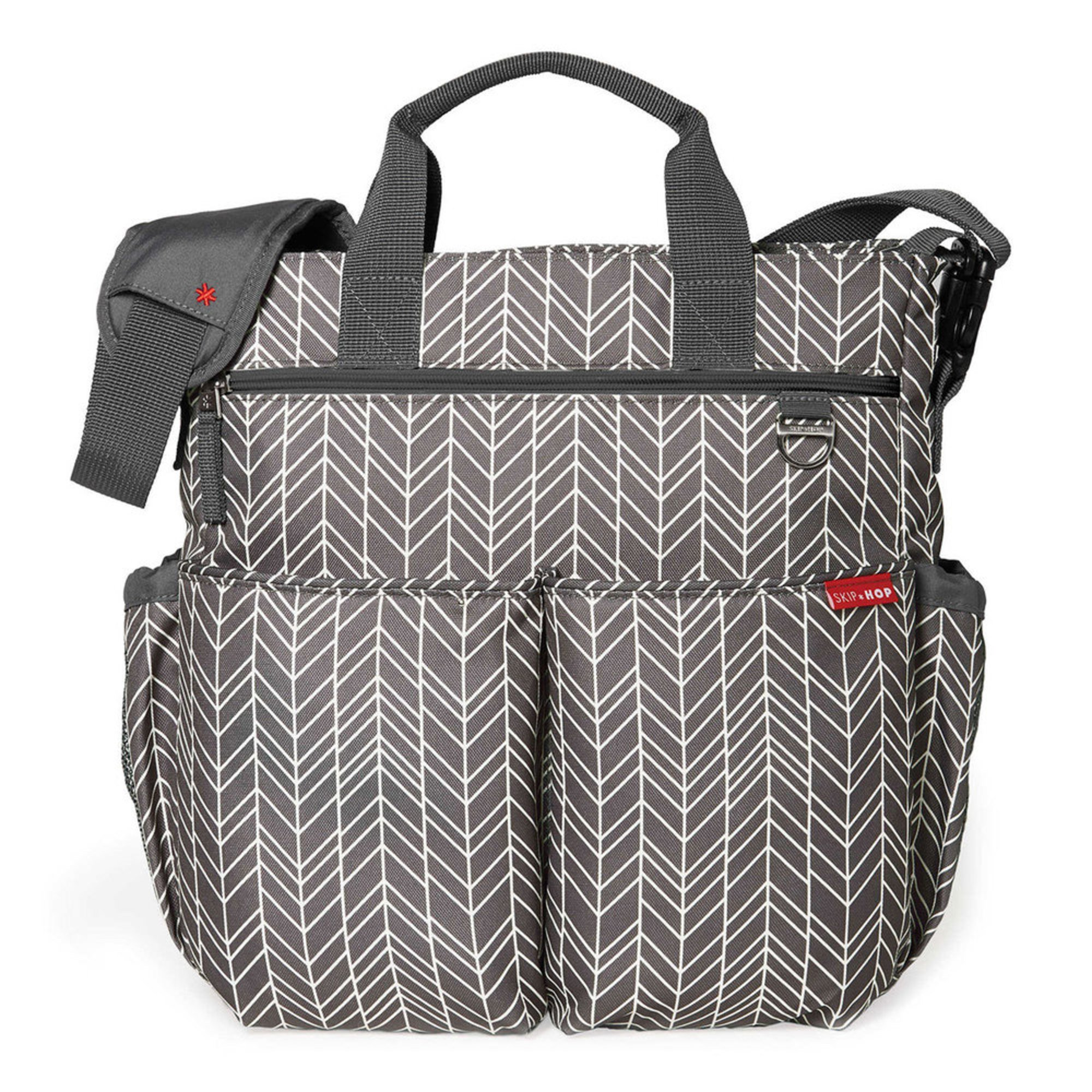 43164a0018143 Skip Hop Duo Signature Diaper Bag, Grey Feather | Totes | Baby, Kids ...