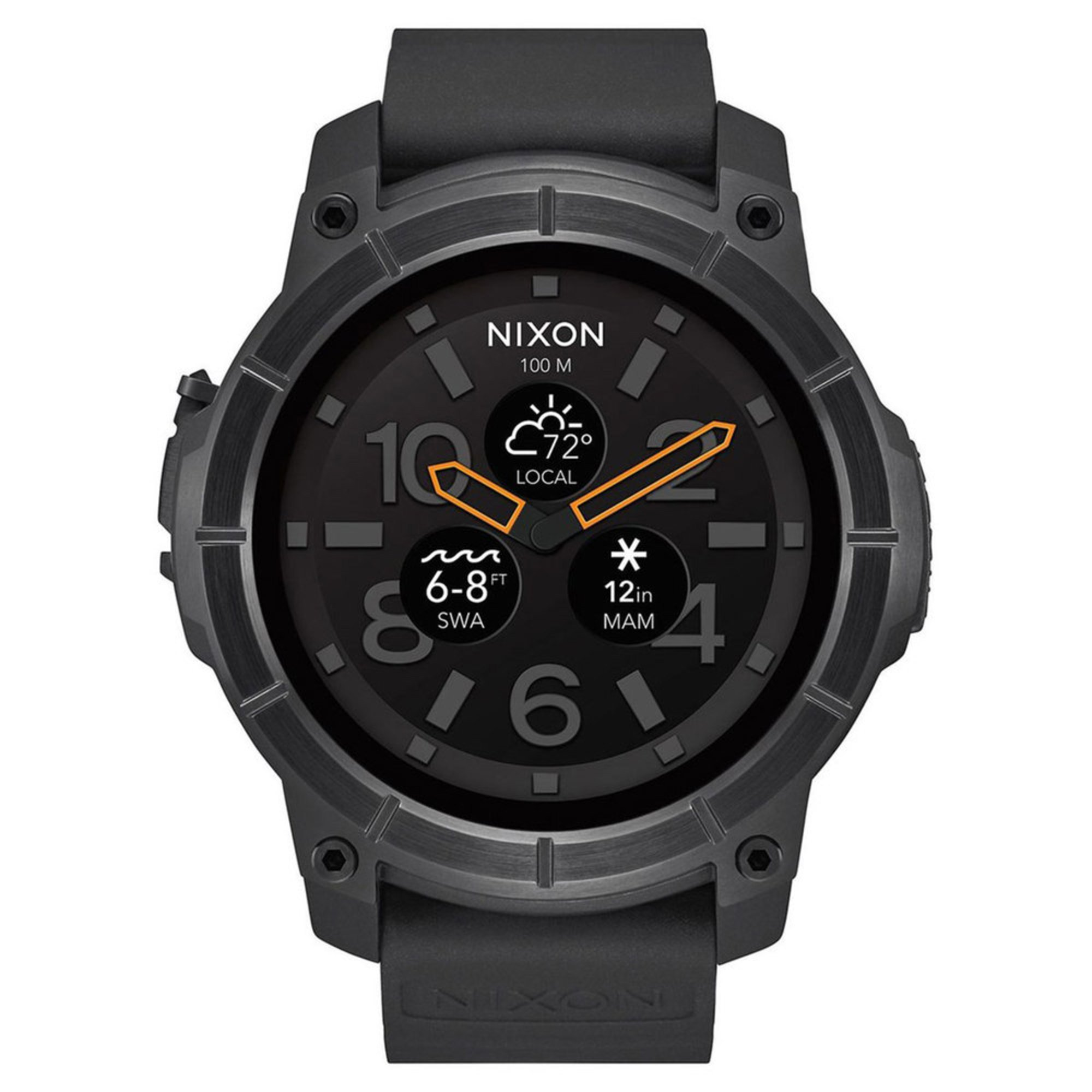 b818845cd46 Nixon. Nixon Men s Mission All Black Smartwatch ...