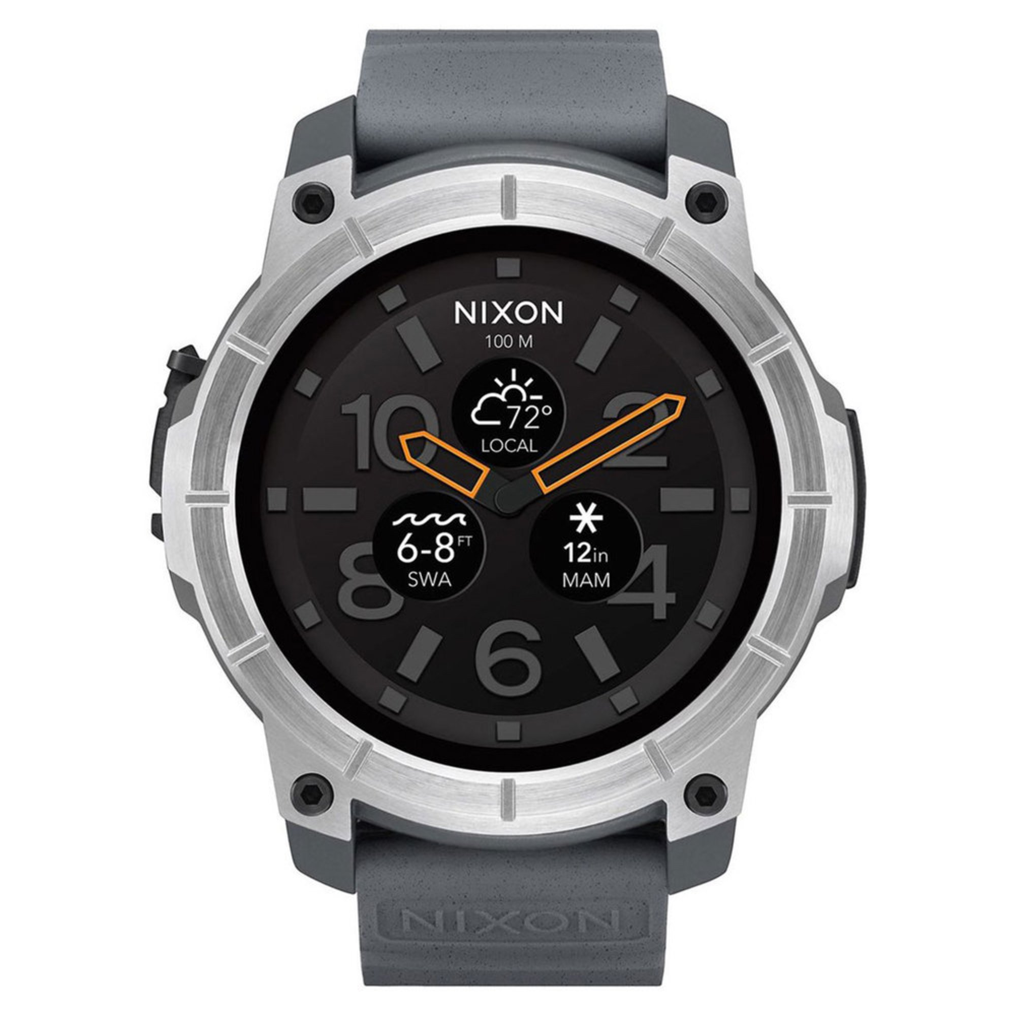 7a3b8b2c20c Nixon Men s Mission Stainless Steel grey Smartwatch