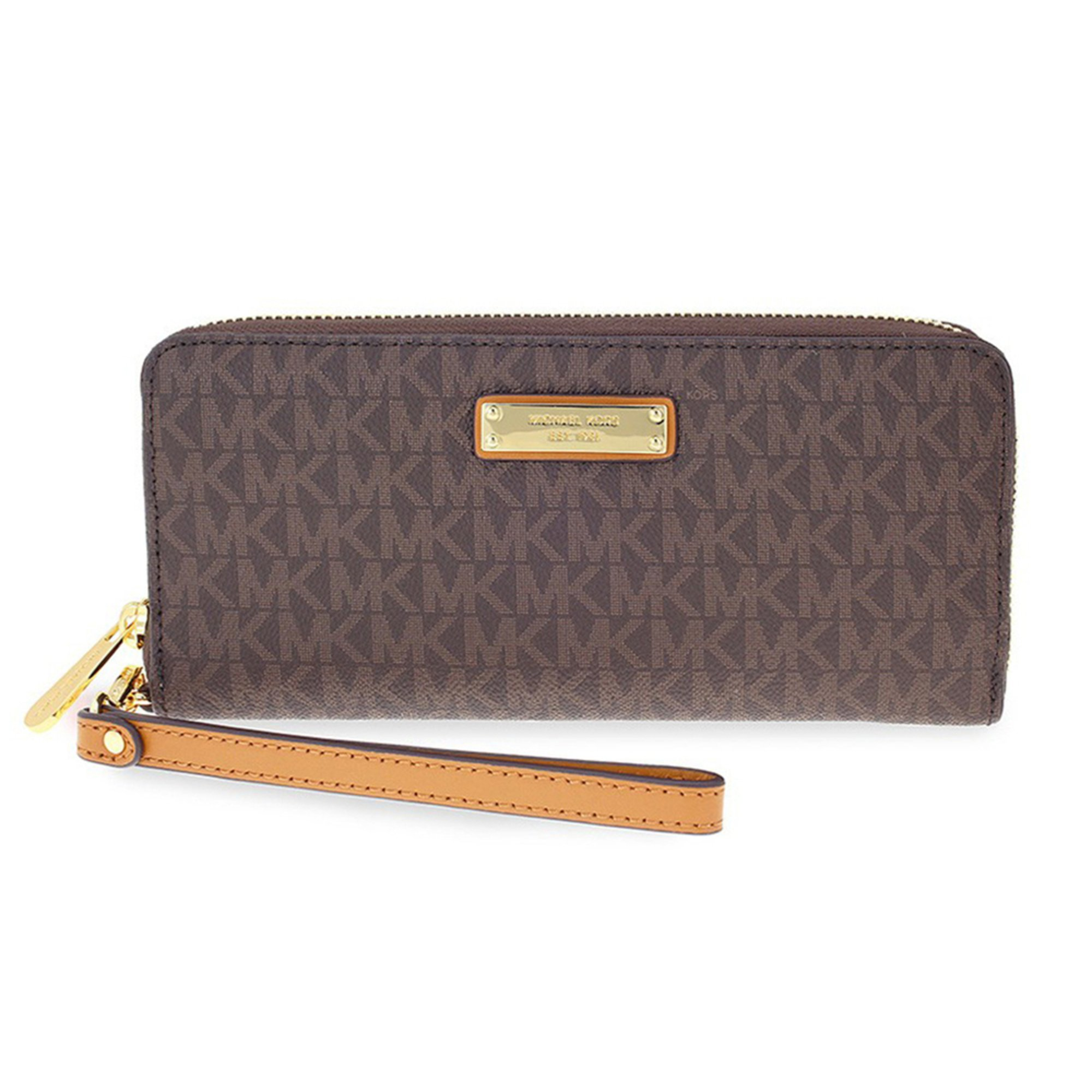 00b06420b57abc Michael Kors Jet Set Item Travel Continental Brown | Wristlets ...