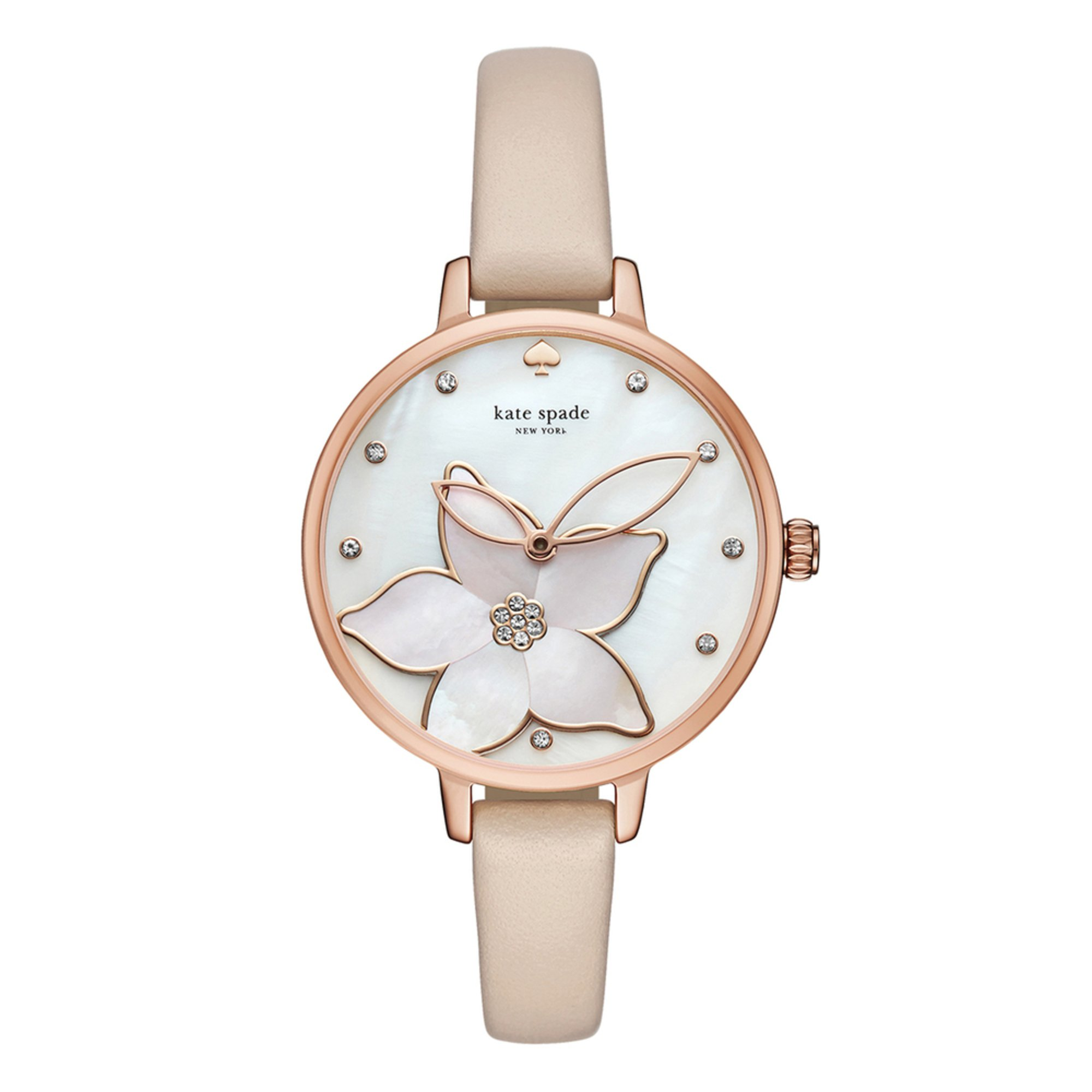 3b6391a6fba Kate Spade New York. Kate Spade New York Metro Flower Vachetta Leather Watch  ...