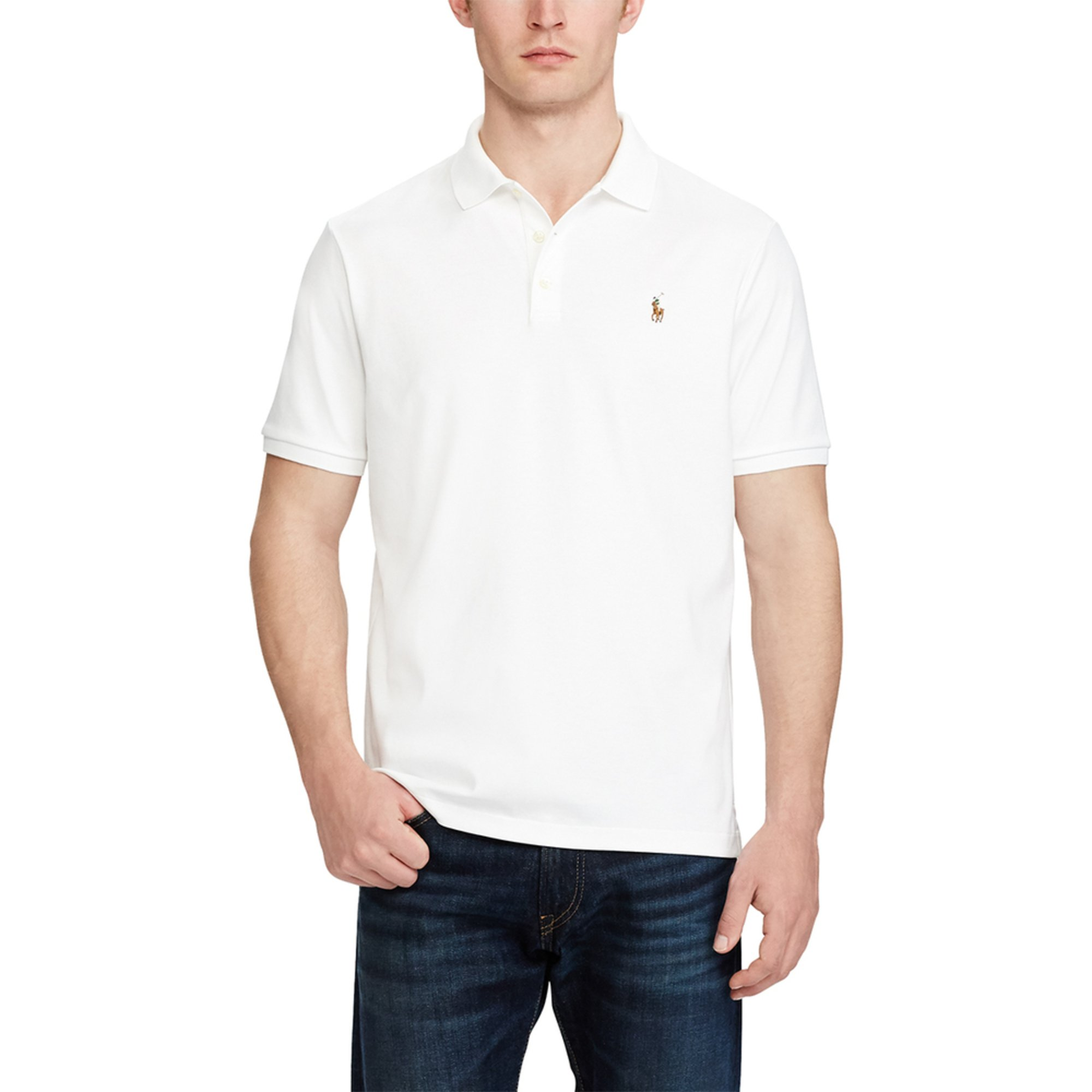 adbaddf3 Polo Ralph Lauren Men's Short Sleeve Pima Soft Touch Classic Fit ...