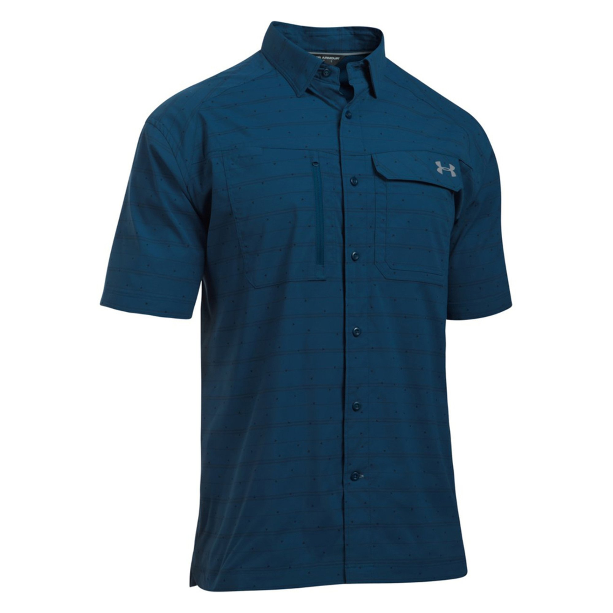 Under armour men 39 s fish hunter short sleeve button down for Button down fishing shirts