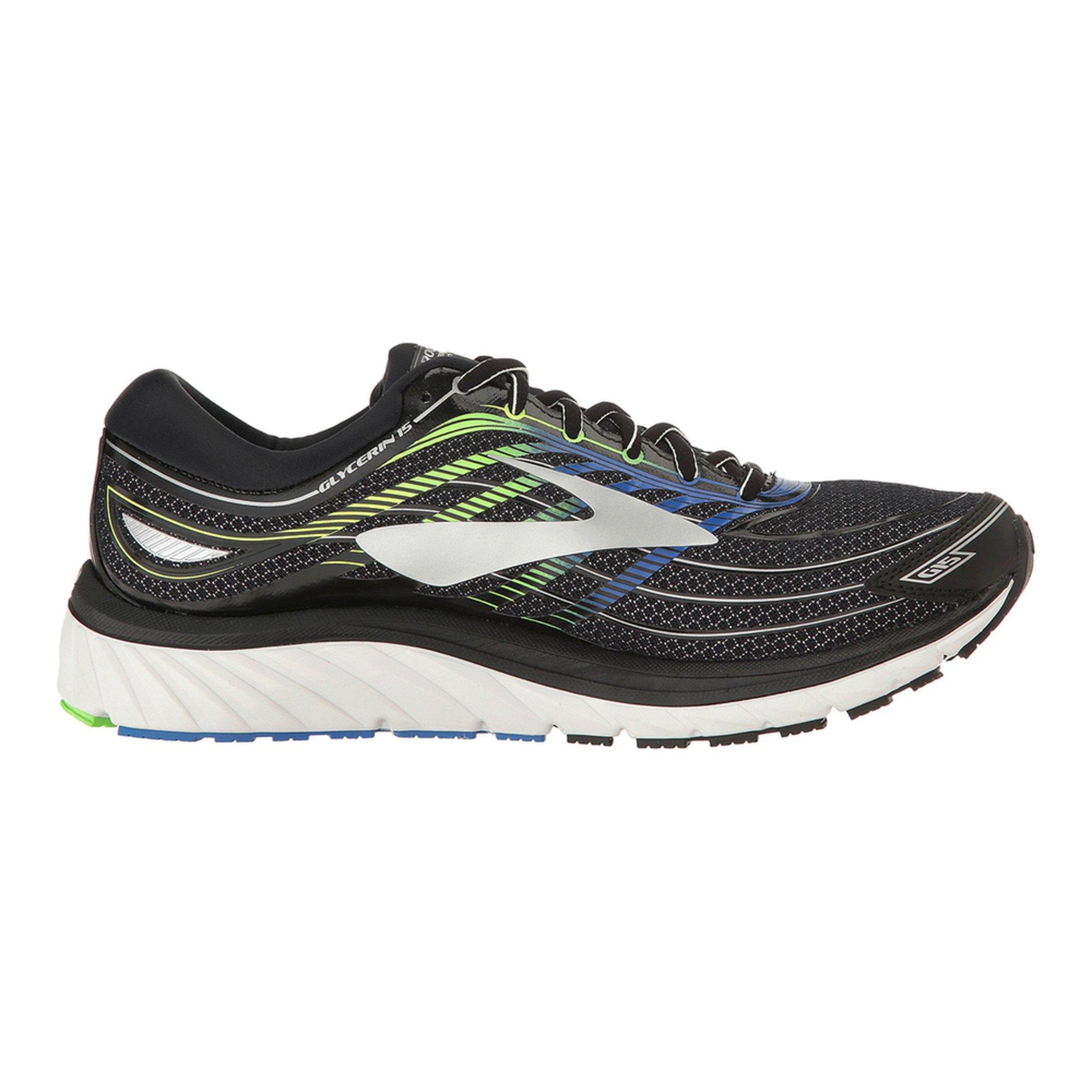 Brooks Brooks Glycerine 15 Mens Running Shoe  Black   Electric Brooks  Blue   Green Gecko