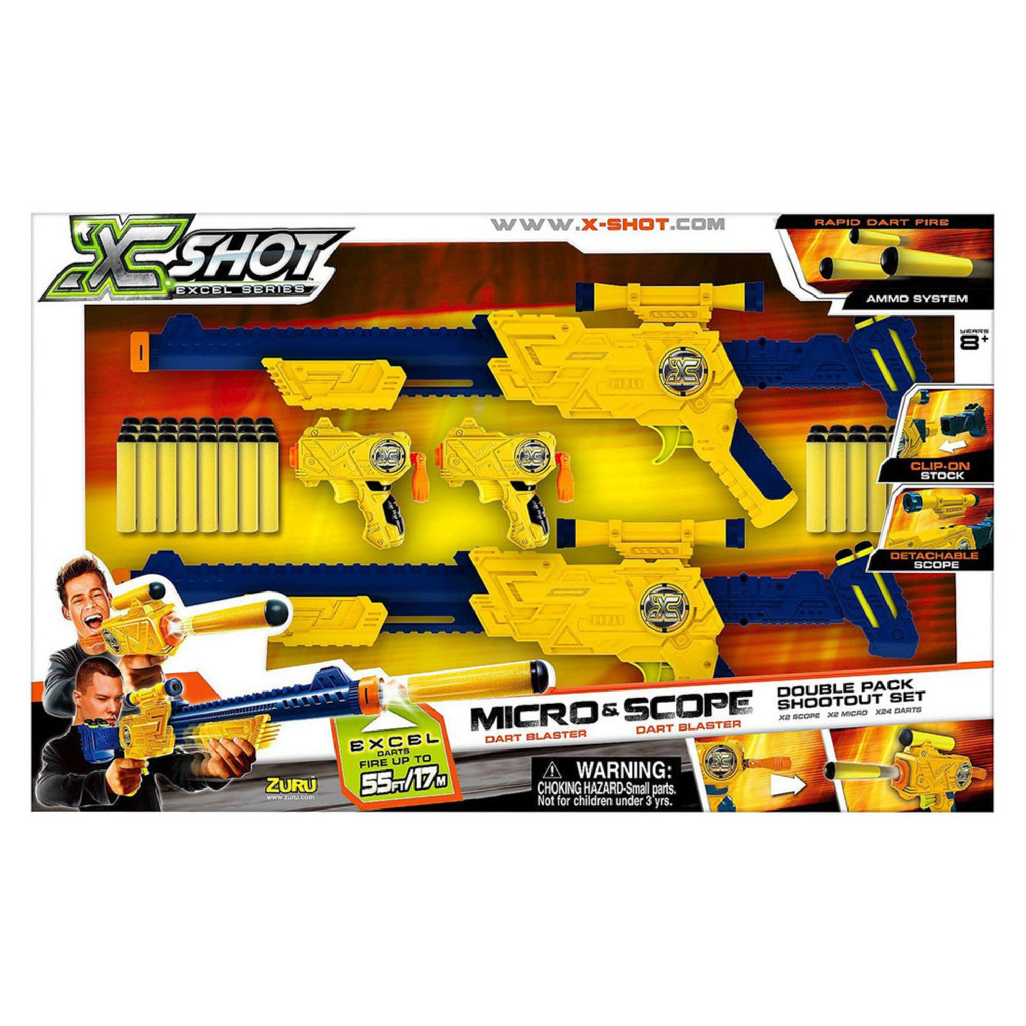 Zuru x shot micro scope dart blaster toy blasters baby kids zuru x shot micro scope dart blaster stopboris Choice Image