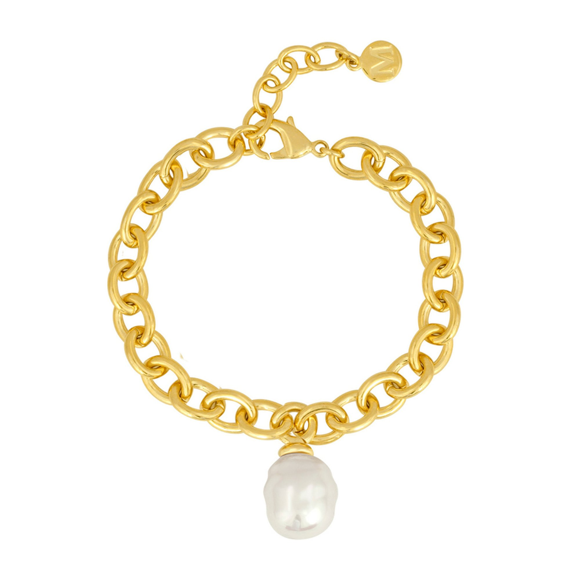 Majorica 14mm Simulated White Baroque Pearl Bracelet