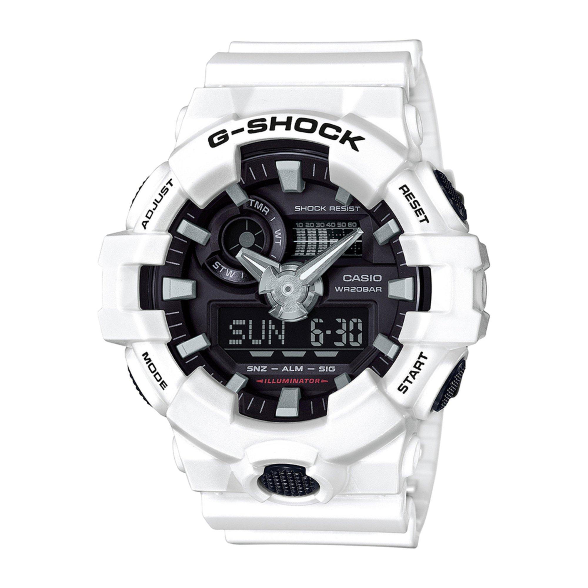 53b4ba7c4d41 Casio Men s G-shock White Analog-digital Watch