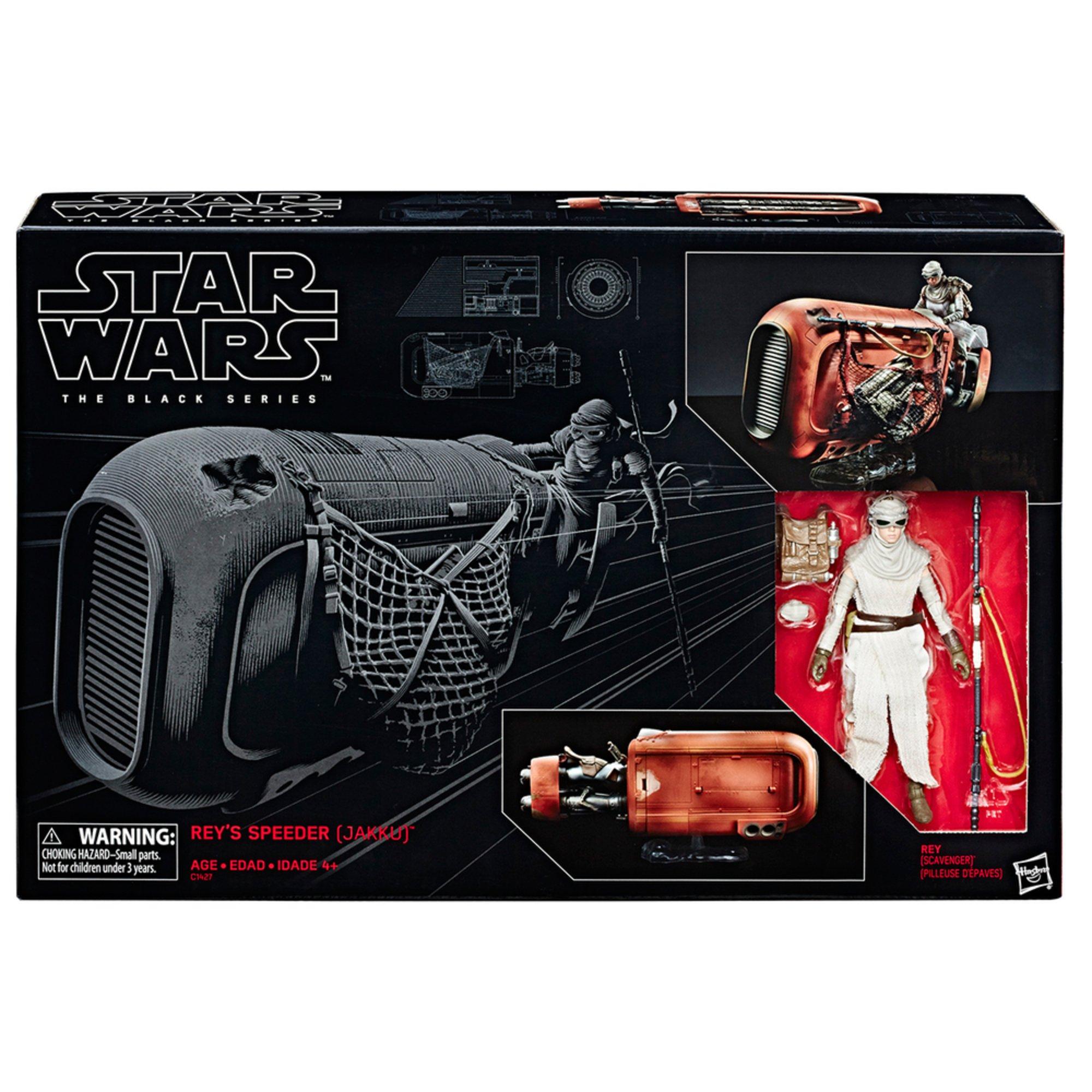 Star Wars-The Black Series-REY /'s Speeder Jakku et Rey Figure BRAND NEW