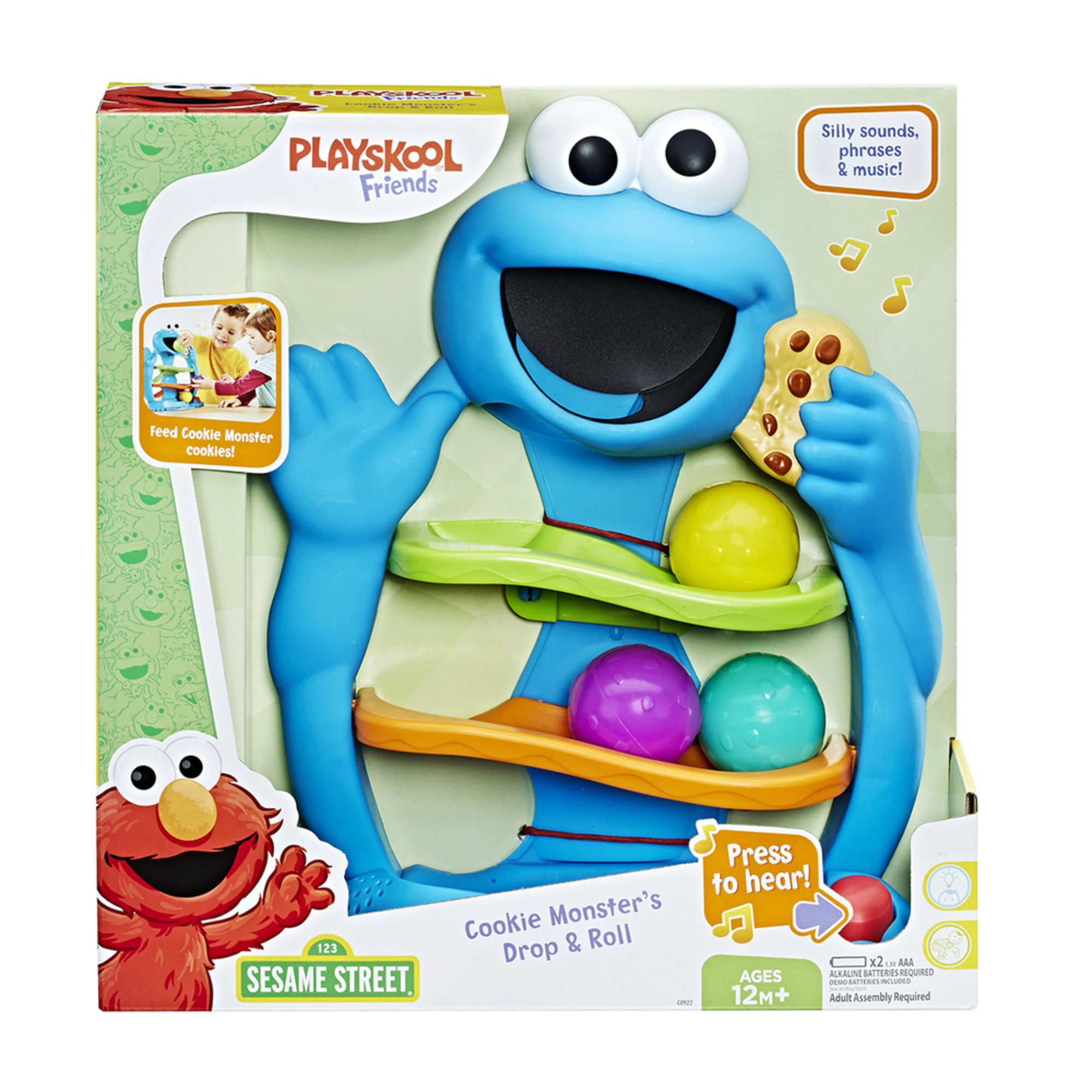 30bbfcb72 Playskool Friends Sesame Street Cookie Monster Drop And Roll | Early ...