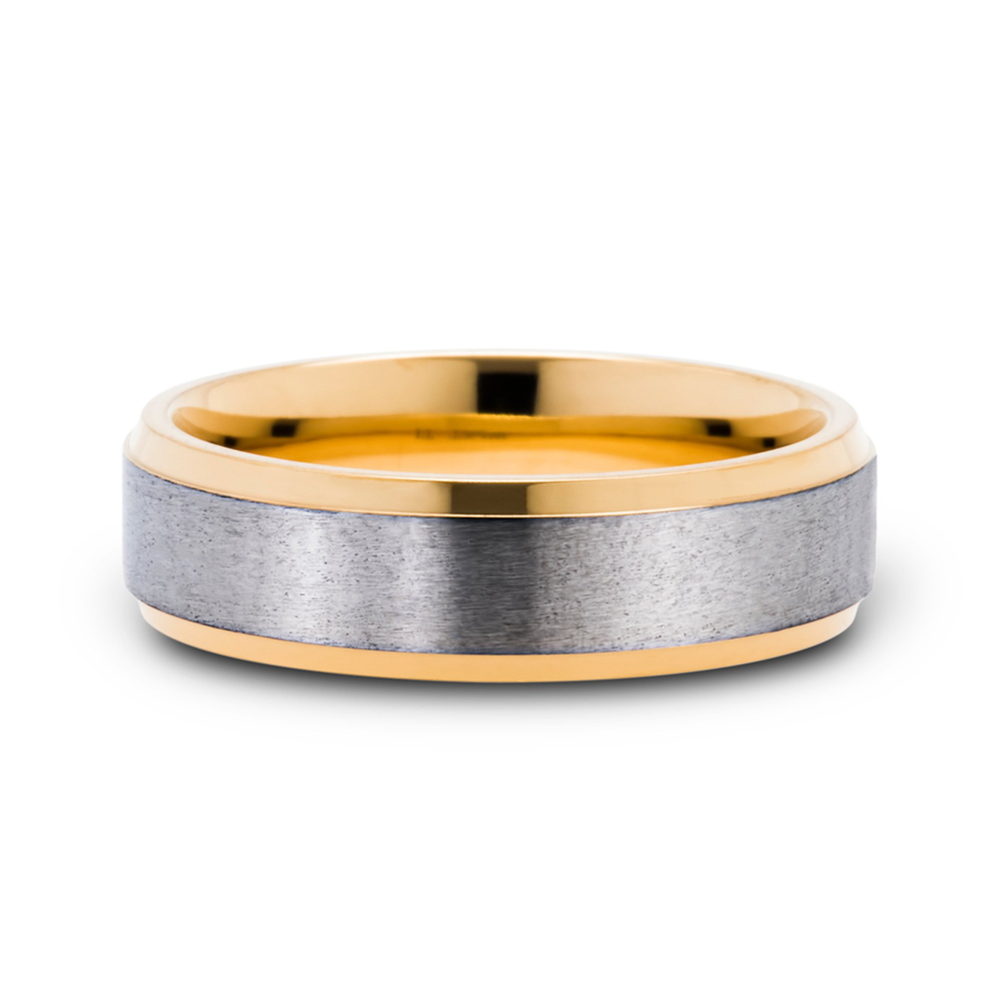 Men S 6 5mm Titanium Wedding Band Two Tone Wedding Bands For Him