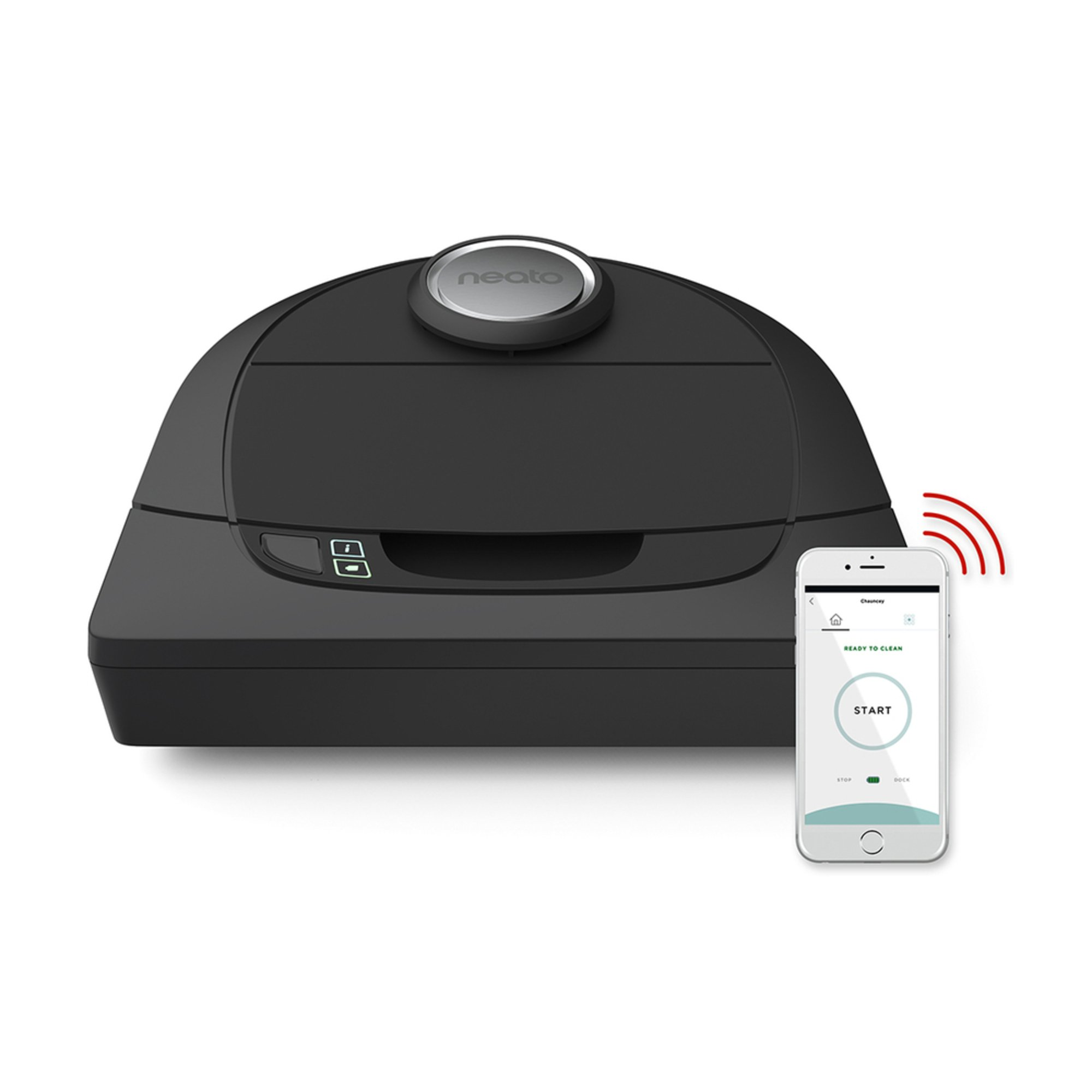 neato botvac d5 connected wi fi robot vacuum black 945 0228 robotic vacuums for the home. Black Bedroom Furniture Sets. Home Design Ideas