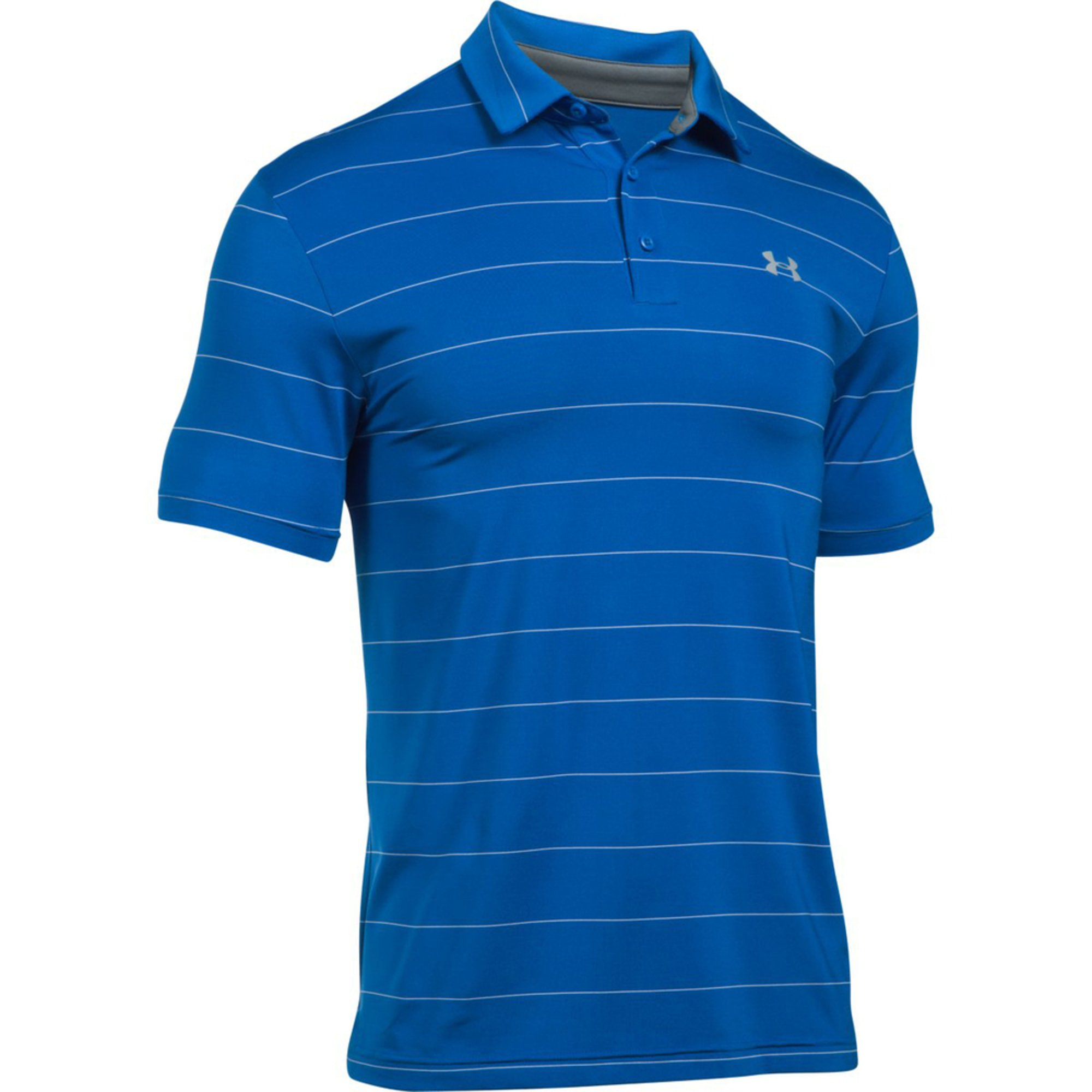 Under armour men 39 s playoff polo bluemarker steel for Under armour men s shirts clearance