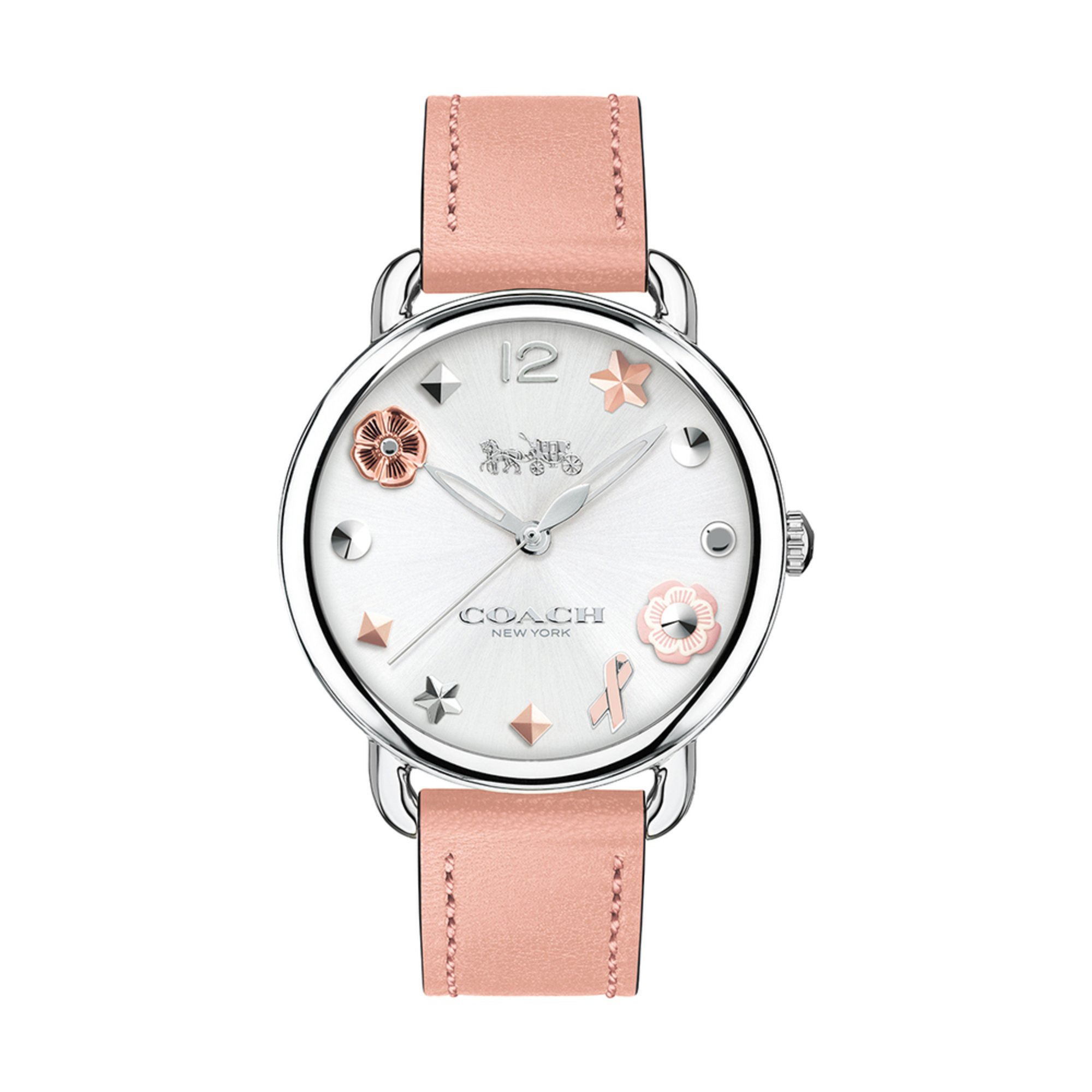 Coach Women S Watch 14502799 Blush Leather Strap 36mm