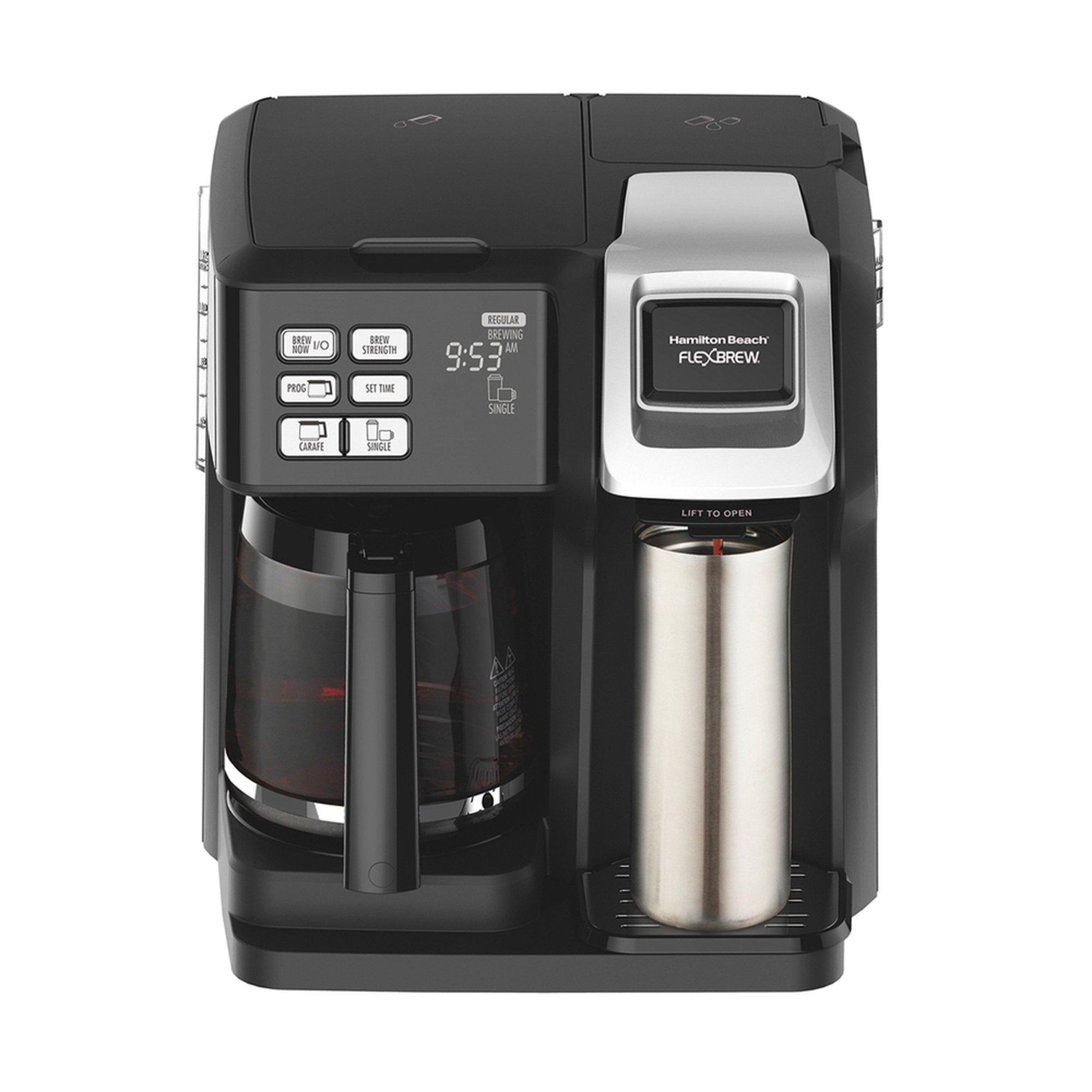 Navy Coffee Maker ~ Hamilton beach flexbrew way coffee maker