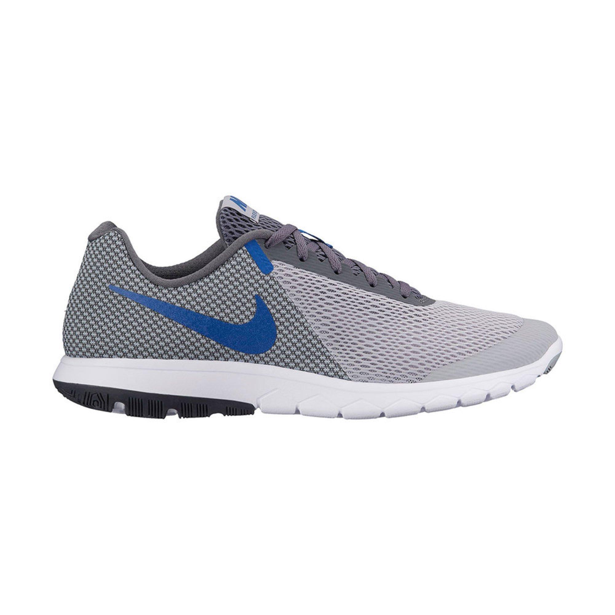 nike - flex esperienza rn 6 uomini lupo grigio / blu, scarpe da corsa.