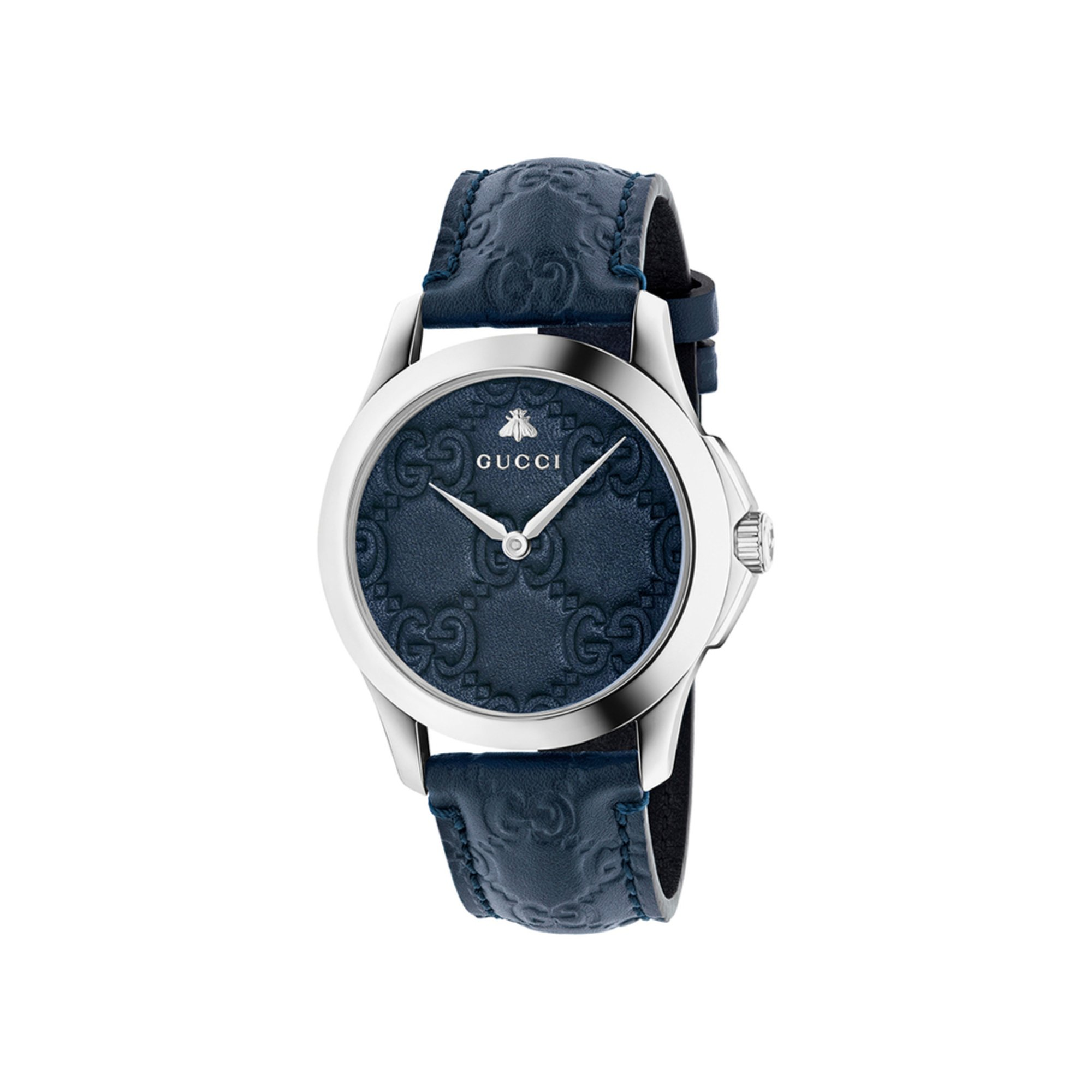 fbe45099d6d Gucci Women s G-timeless Blue Leather Watch