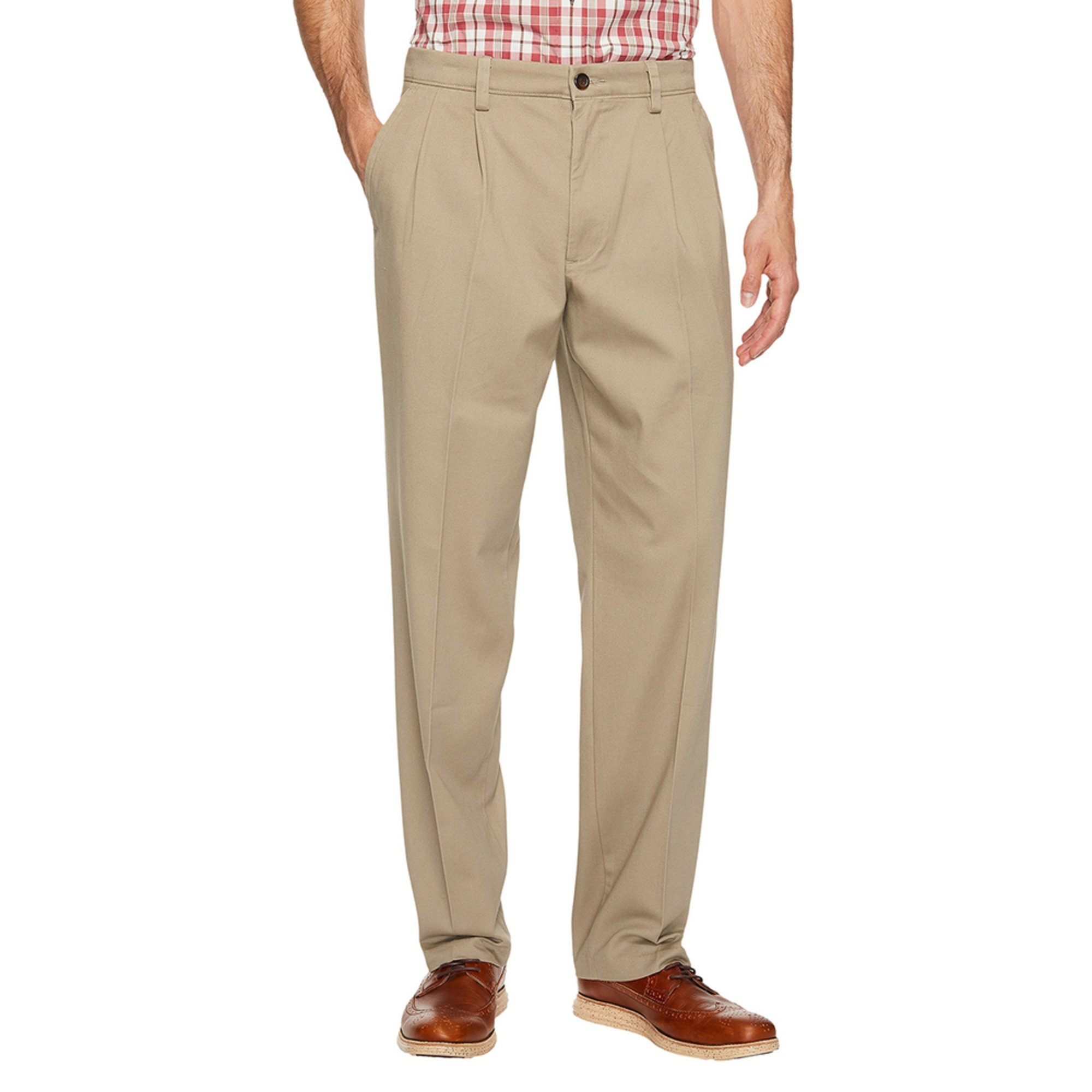 91bf10f6eb45cd Dockers Men's Easy Khaki Stretch Classic Fit Pleated Pants | Casual ...