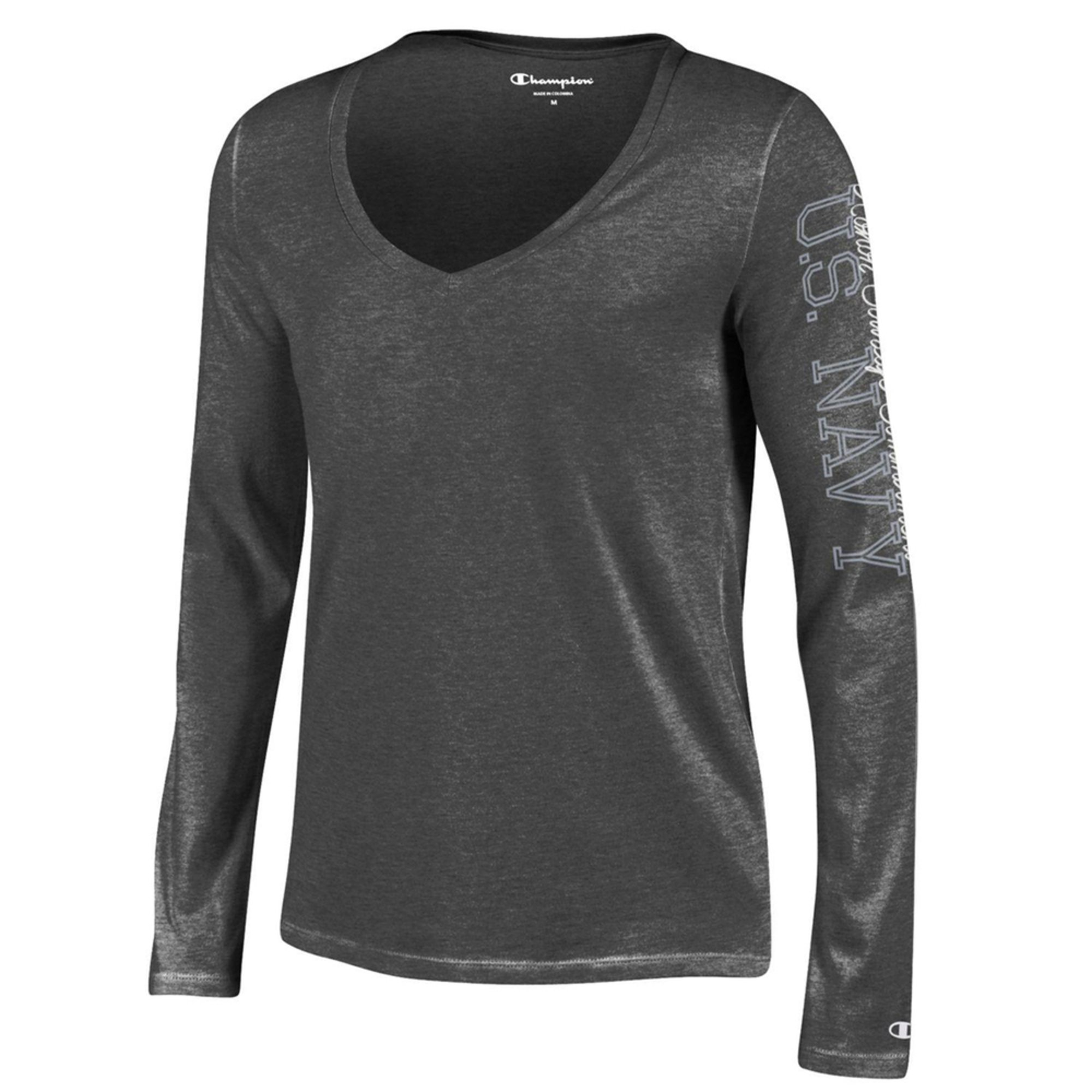 Champion. Champion Women s USN Long Sleeve V-Neck Cotton Tee Extended Sizes 9988d211e8