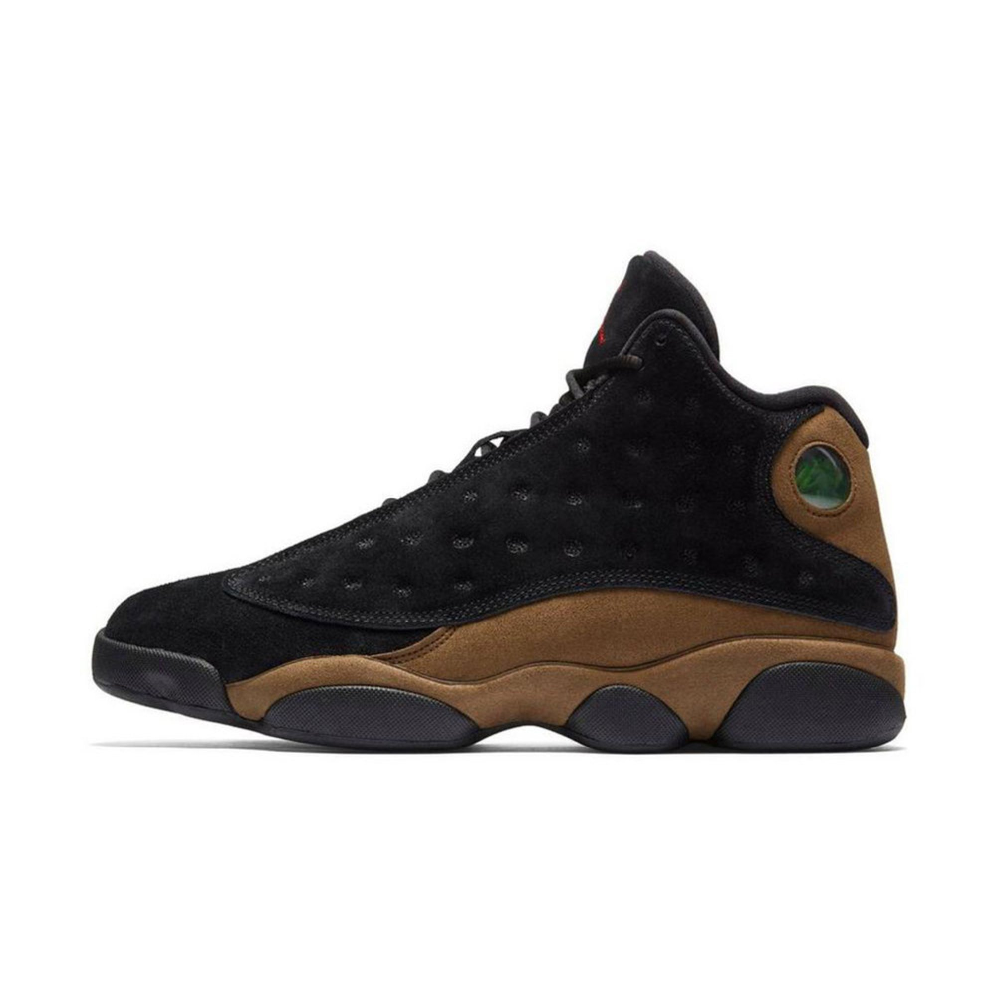 Jordan Jordan Air Jordan 13 Retro Mens Basketball Shoe  Black  True Red   Light Olive