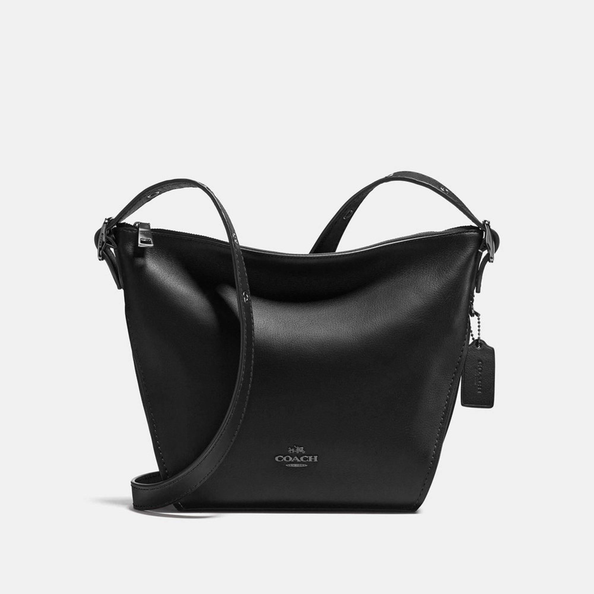 764515299d87 Coach Natural Leather Small Dufflette Black