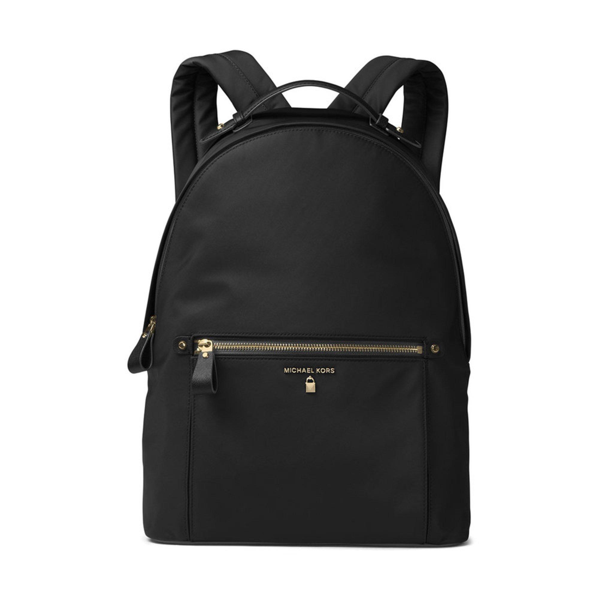Michael Kors Nylon Kelsey Large Backpack (Black) Backpack Bags r5Fyf