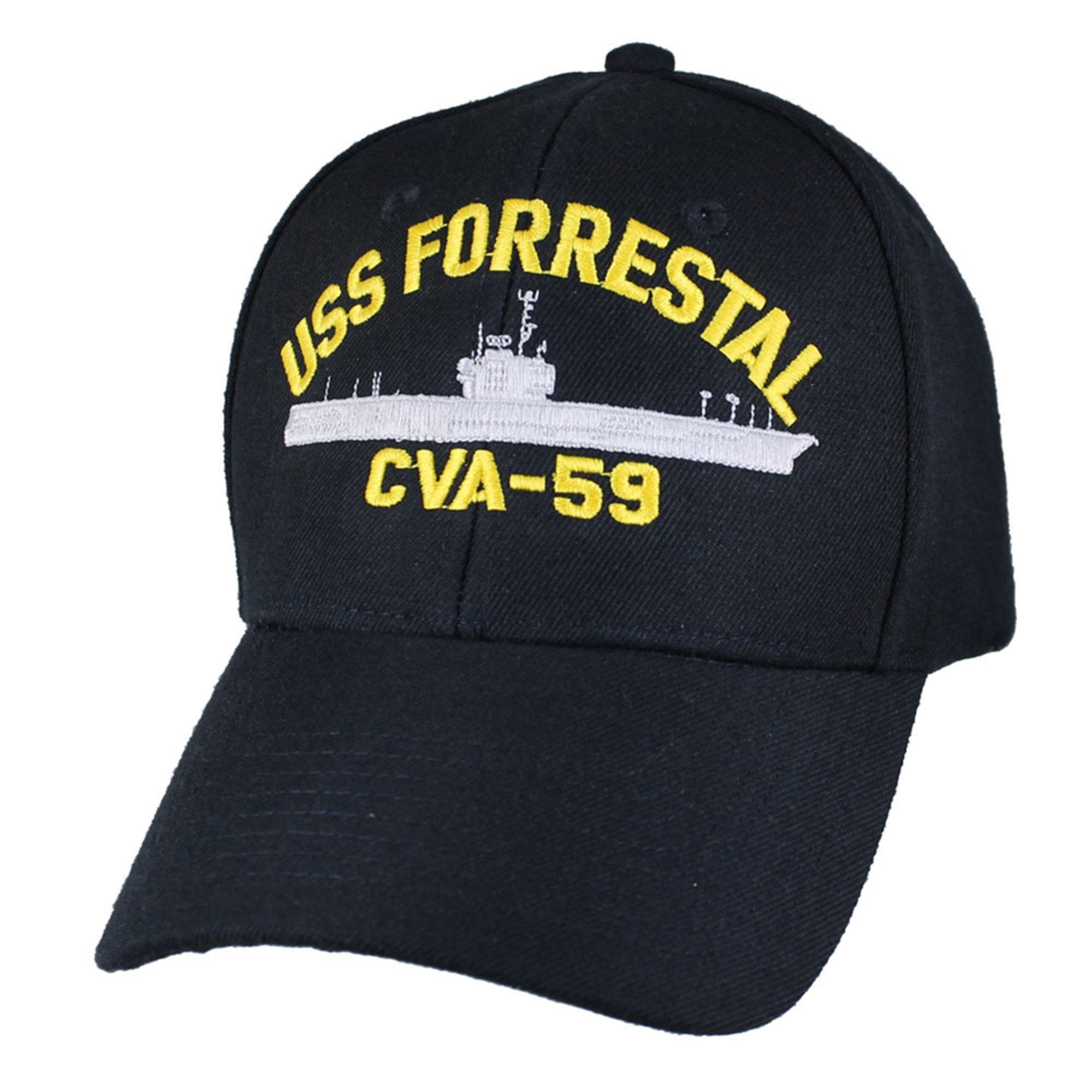 Eagle Crest Men s Uss Forrestal Cva-59 Decommissioned Carrier Hat ... 427b21fb891