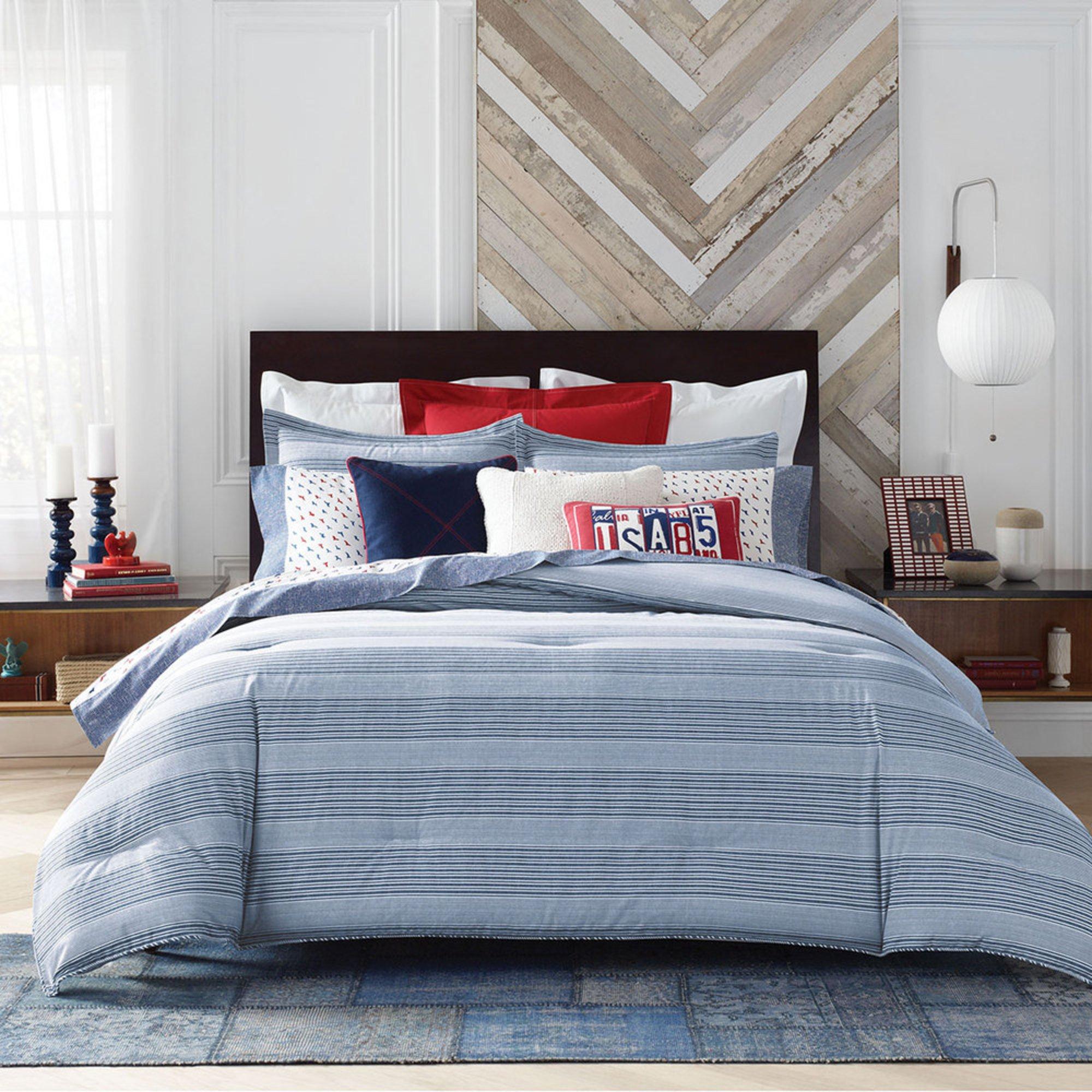 Tommy Hilfiger Williams Stripe Comforter Set Blue King