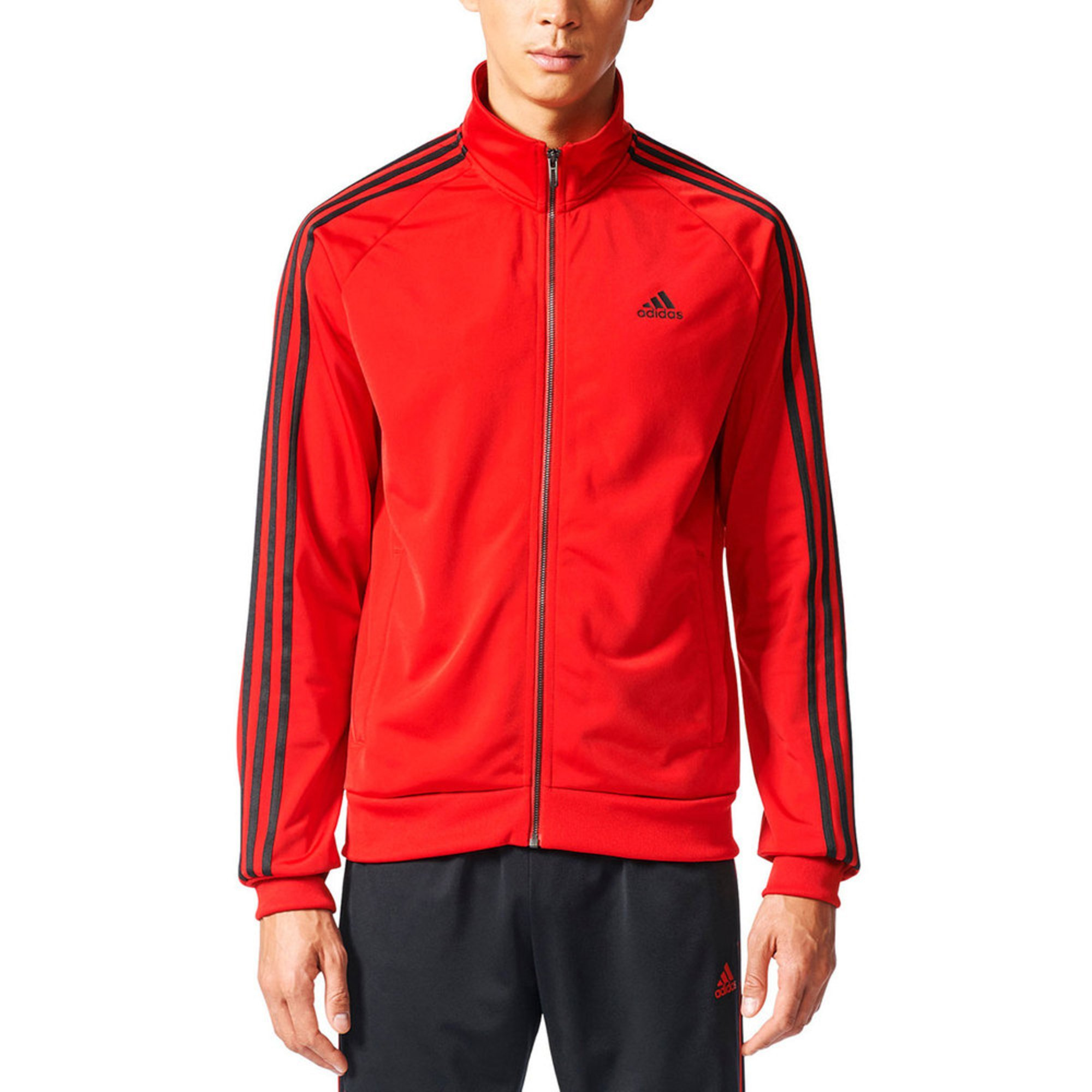 sports shoes 31408 cc49d Adidas Men s Essential Tricot Track Jacket   Active Jackets   Coats ...