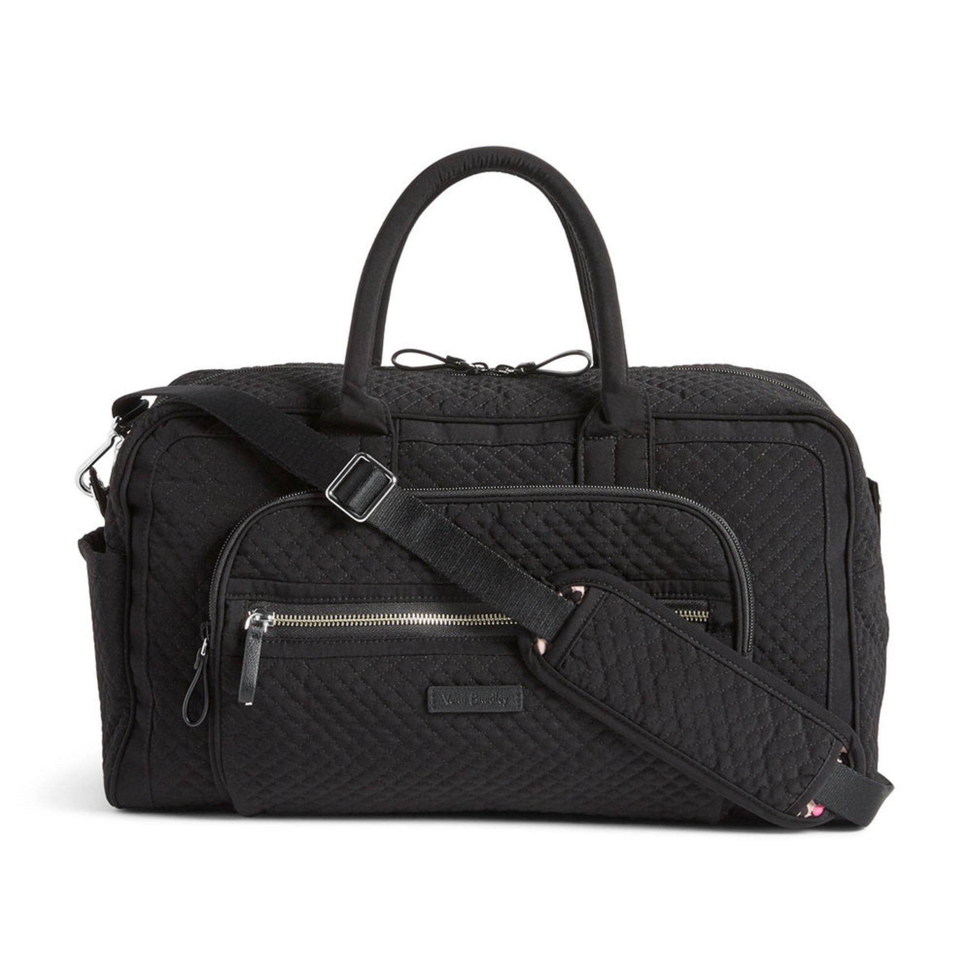 Vera Bradley Compact Weekender Travel Bag Iconic Black  389e233e29c67