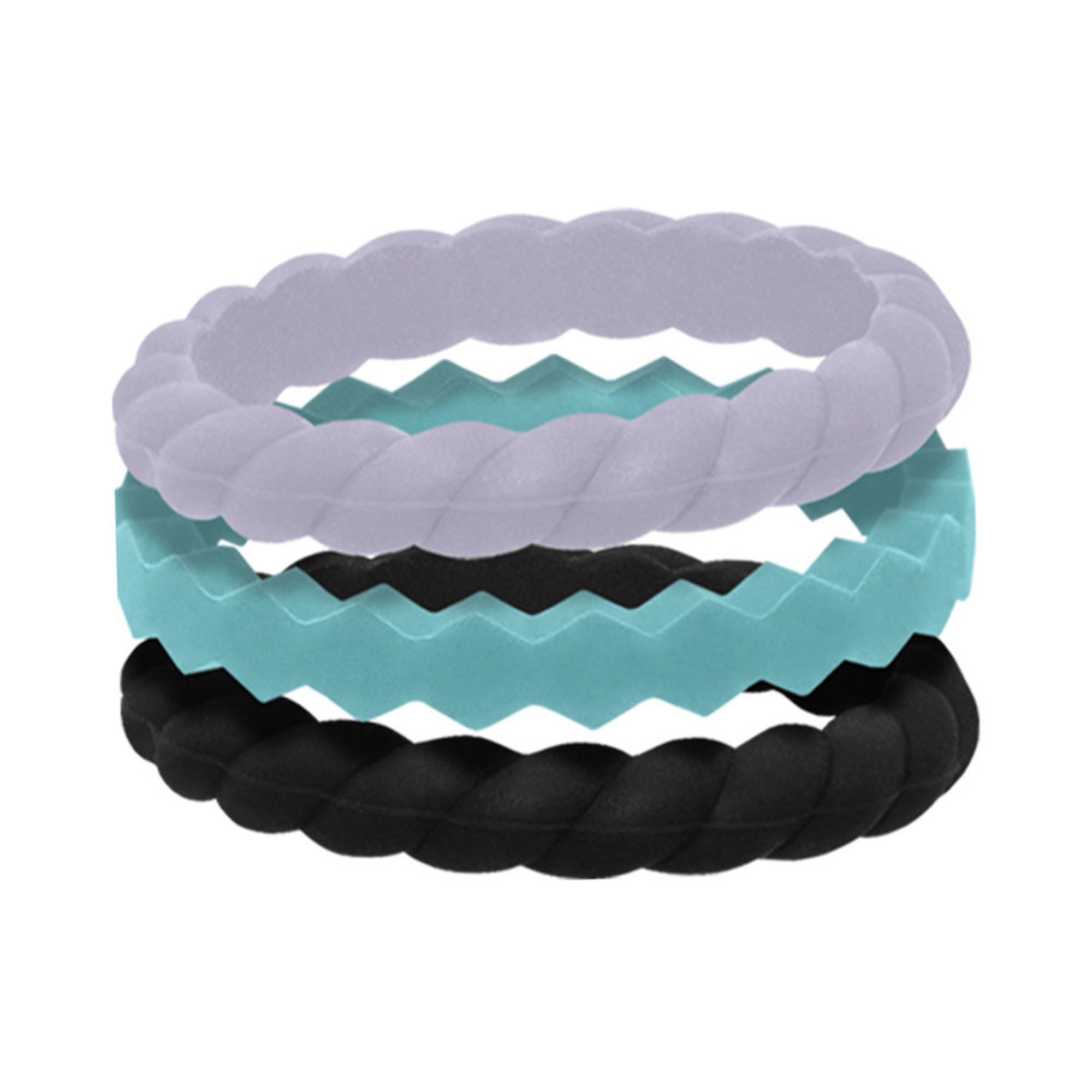 Qalo Women S Stackable Rings Collection A Set Of 3 Wedding Bands