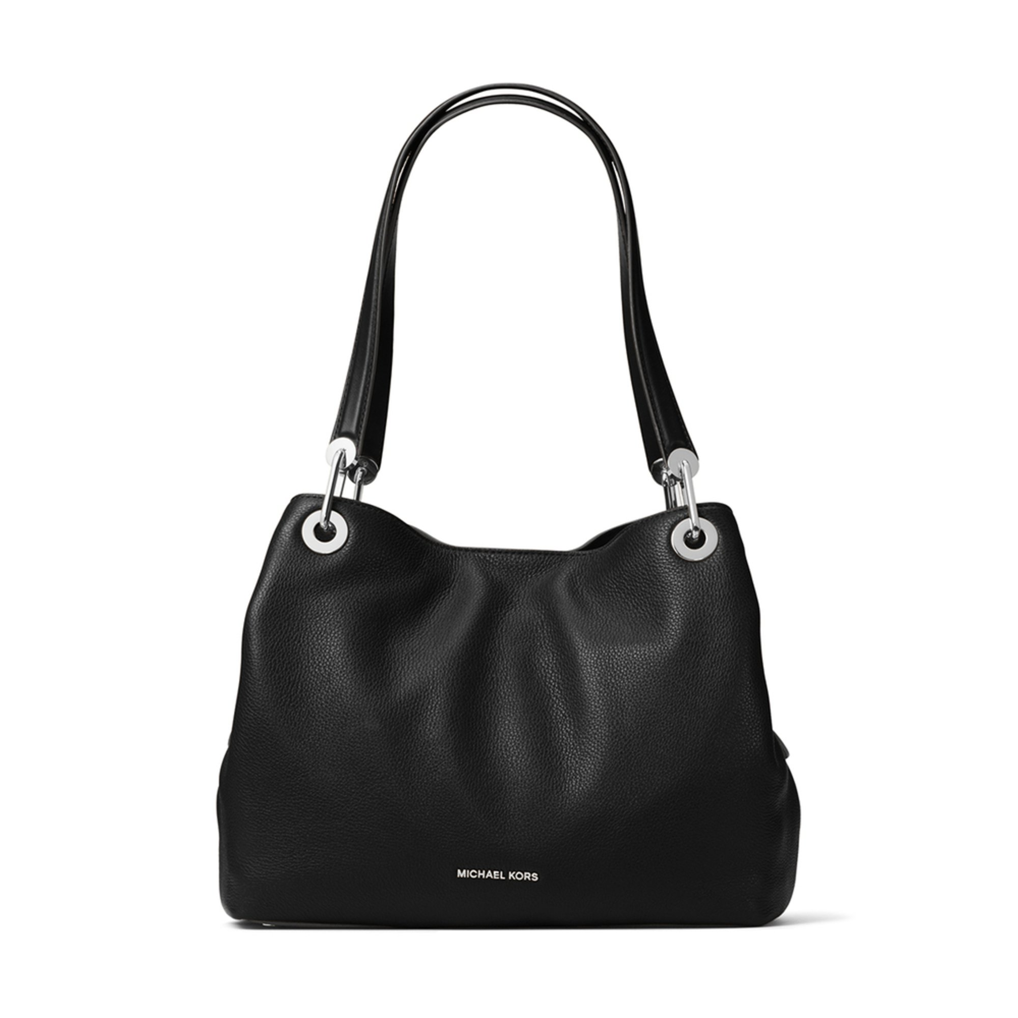 816c85204565 Michael Kors Black Tote Bag Silver Hardware | Stanford Center for ...