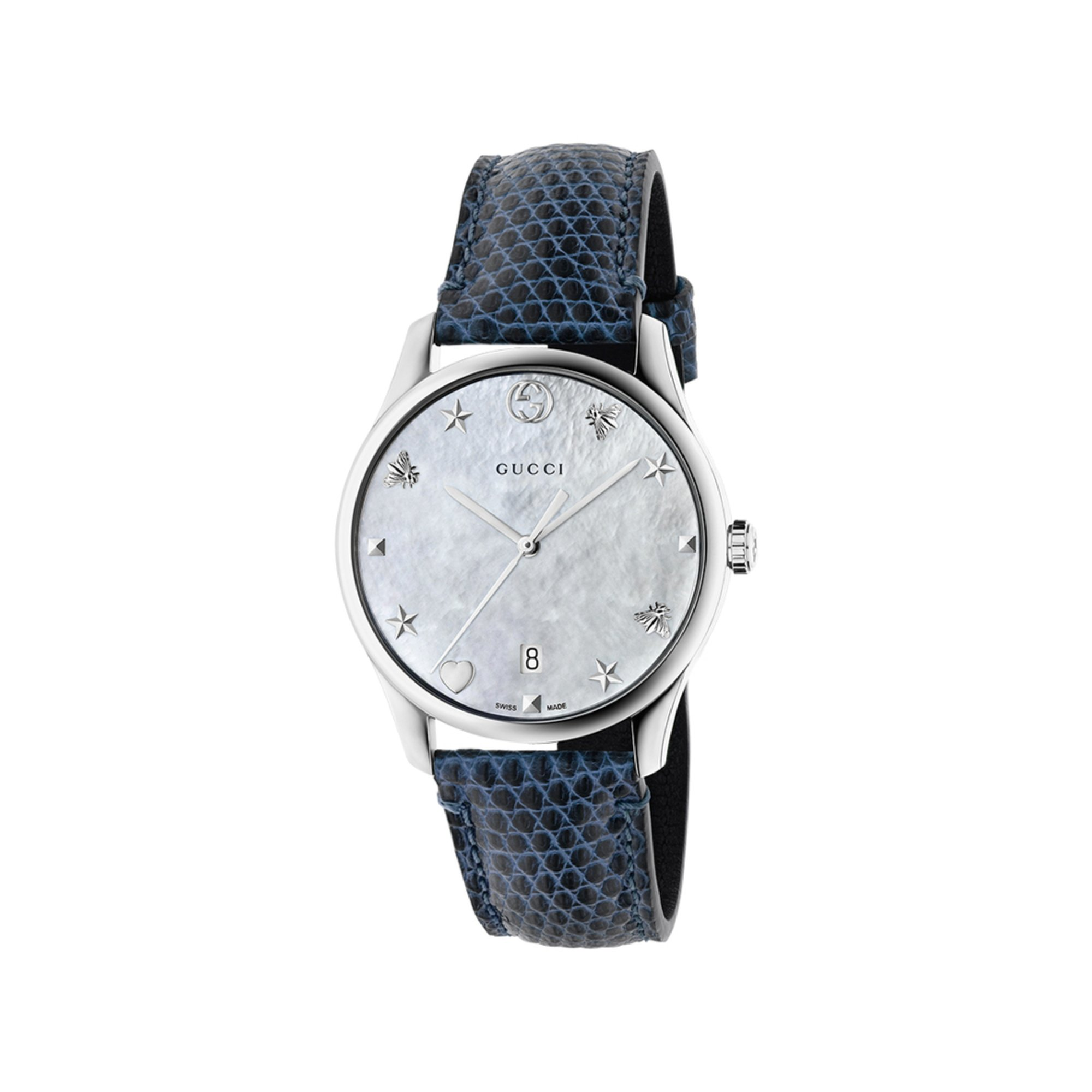 cc6baa257aa Gucci Women s G-timeless Mother Of Pearl blue Lizard Watch