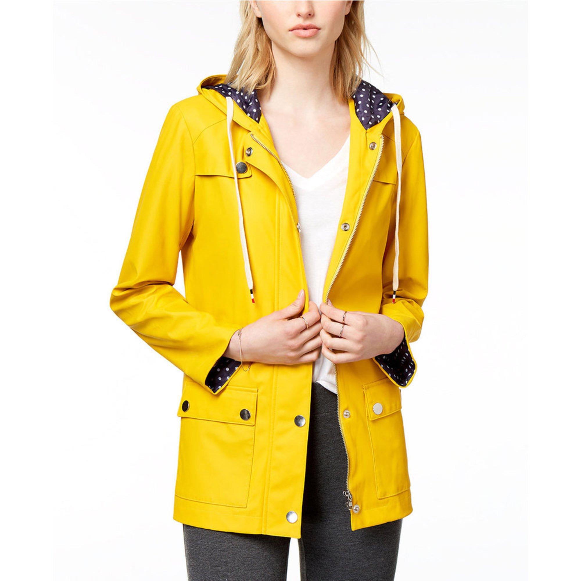0fc43e2b62f1c Maison Jules. Maison Jules Women s Rubberized Rain Jacket with Dot Lining