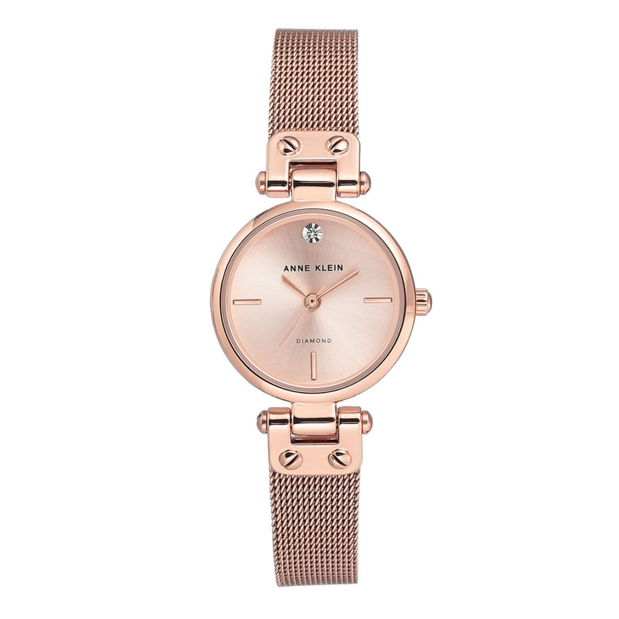Anne klein women 39 s rose gold tone mesh bracelet watch 26mm women 39 s watches accessories for Anne klein rose gold watch set