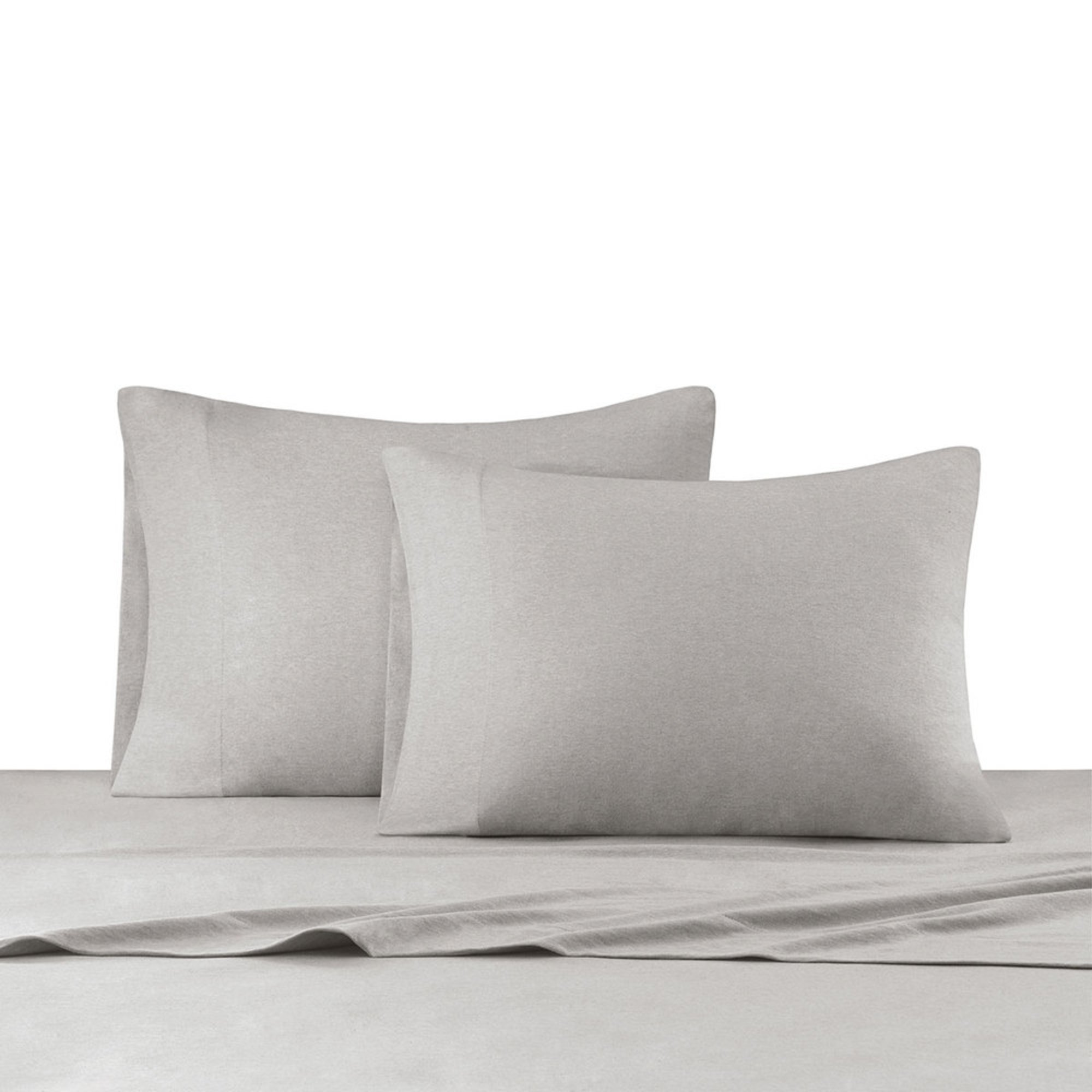 Ink Ivy Heathered Jersey Knit Sheet Set Grey Twin Sheets Pillowcases For The Home Your Navy Exchange Official Site