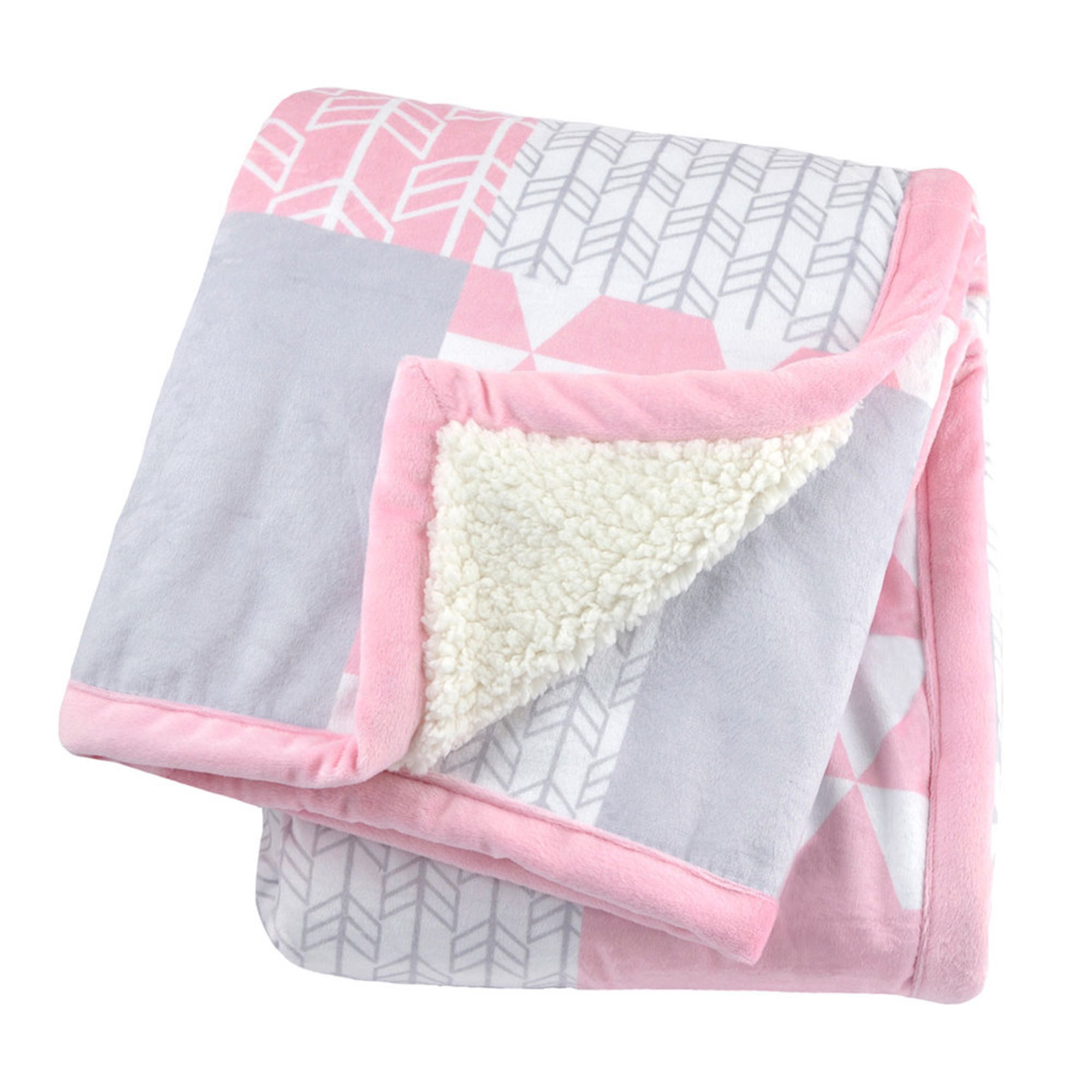 445e3eff5e Just Born 2 Ply Printed Patchwork Blanket