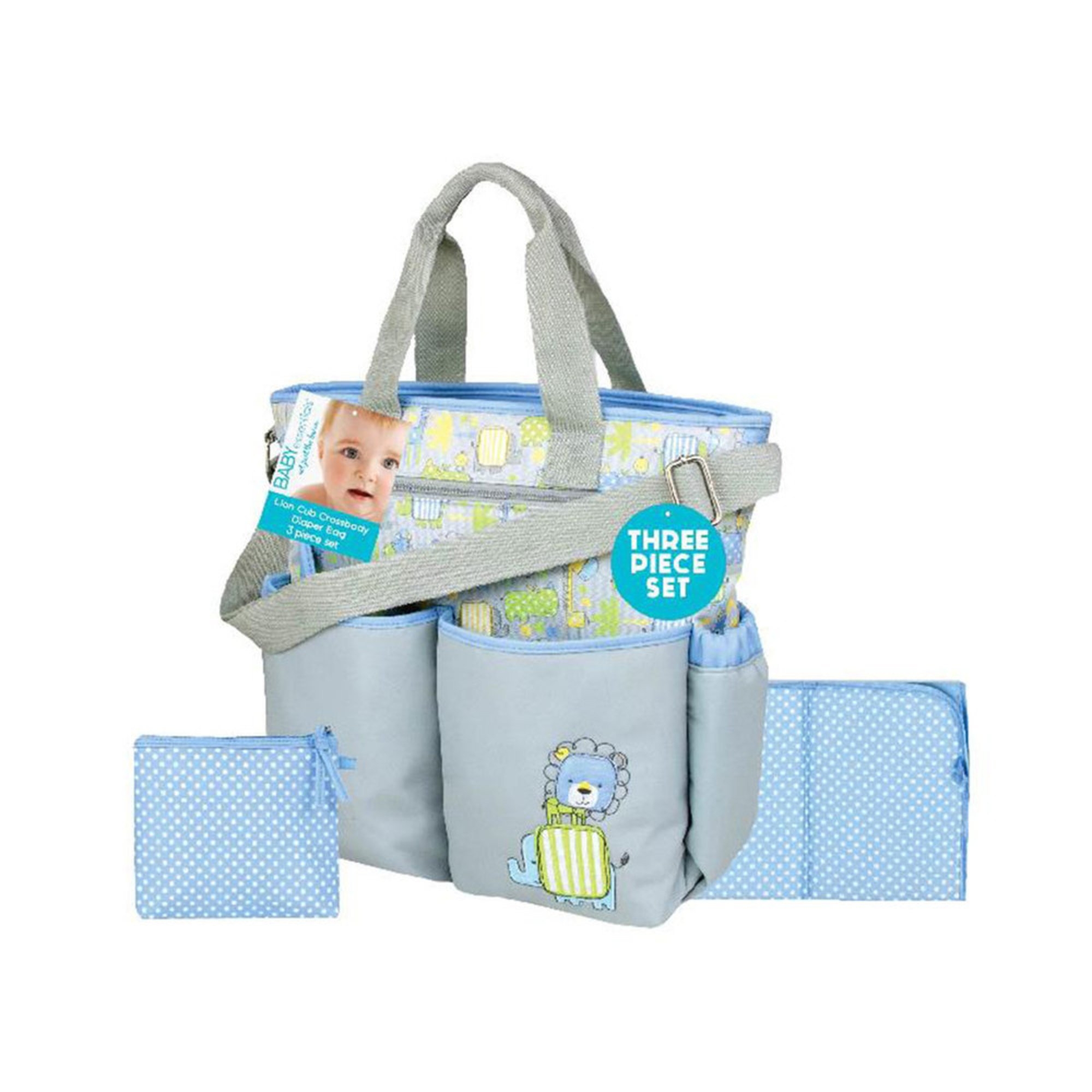 Baby Essentials 3-in-1 Jungle Baby Diaper Bag | Messenger ...