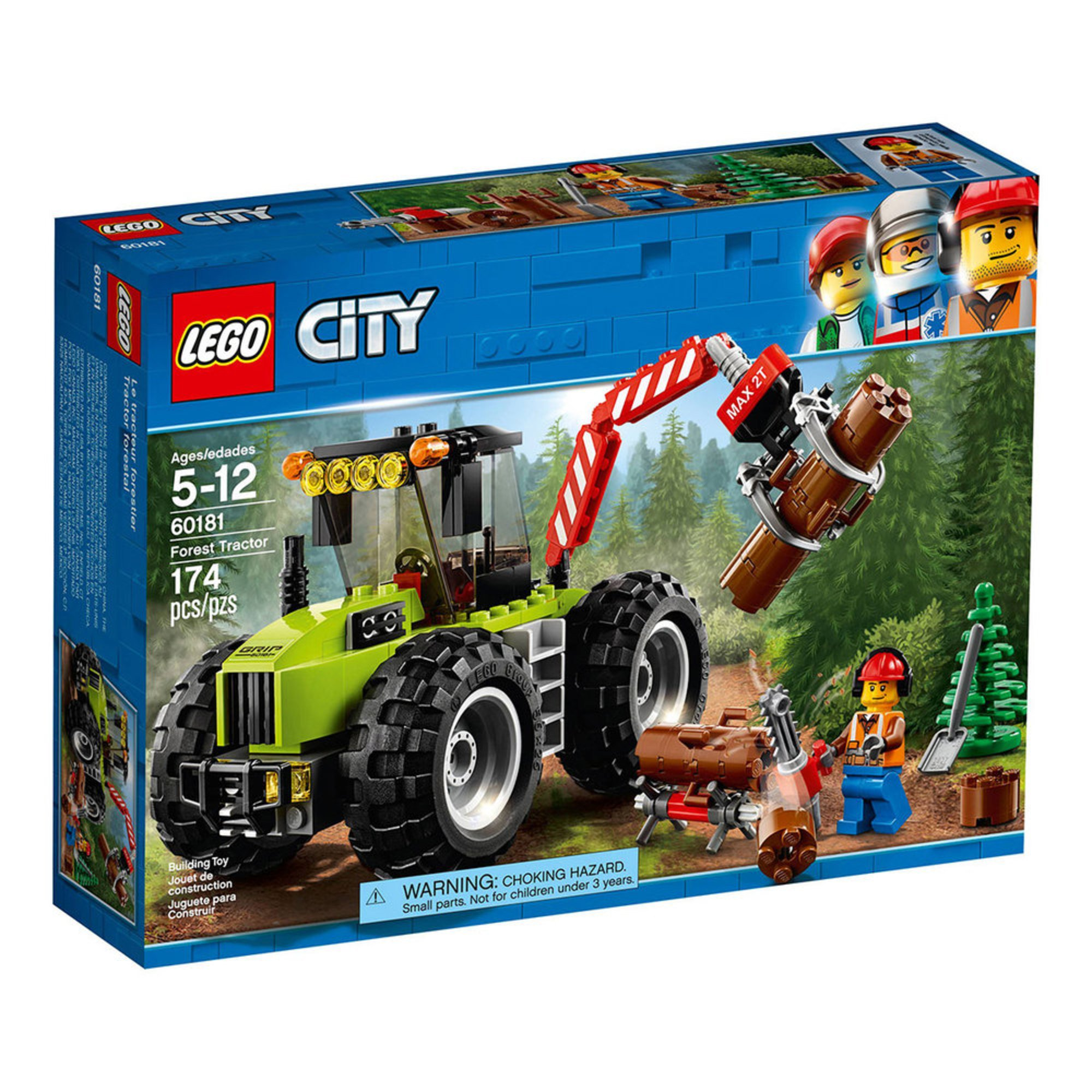 Lego City Forest Tractor 60181 Building Sets Kits Baby Kids