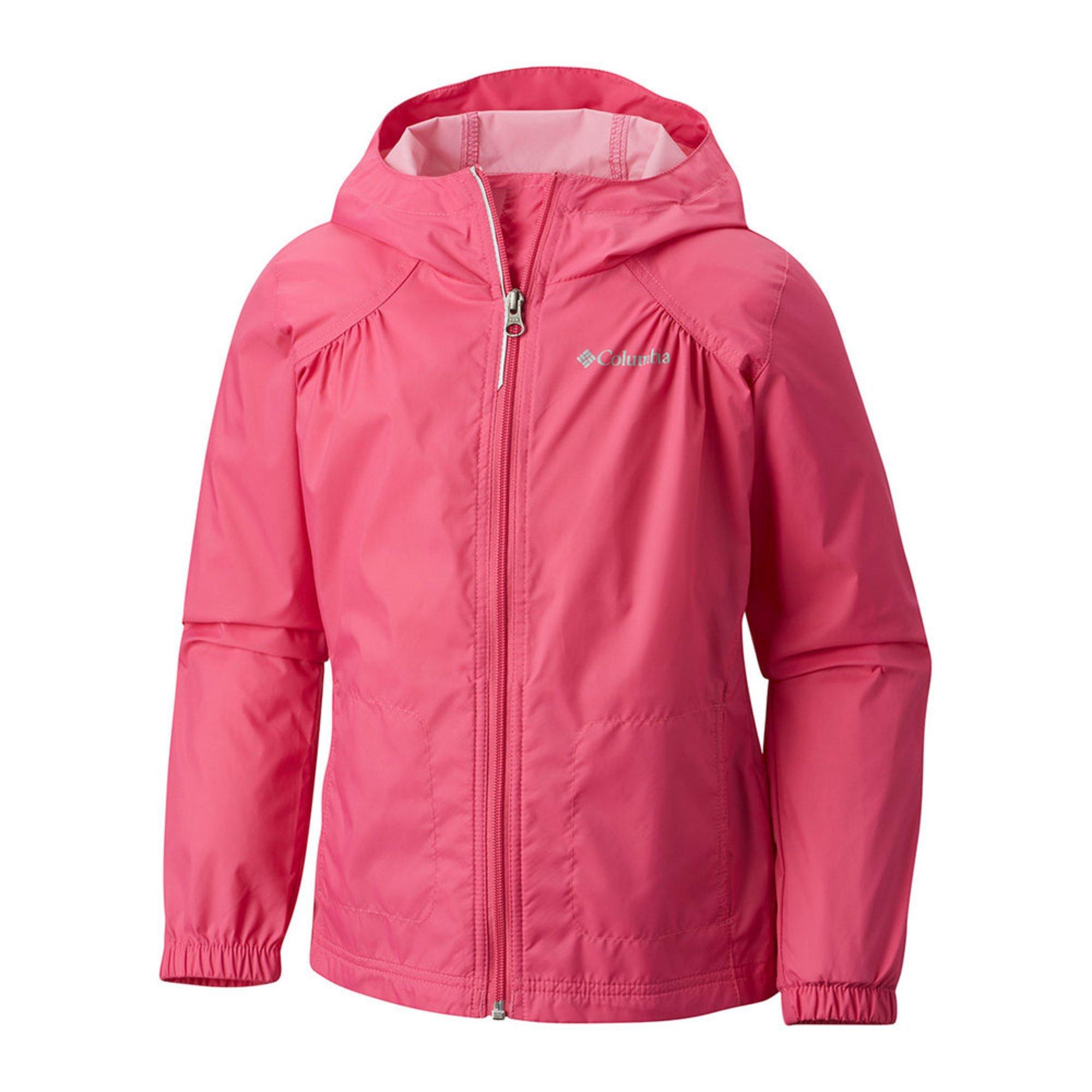 6cfe1db76 Columbia Little Girls' Switch Back Rain Jacket, Pink Ice   Little ...