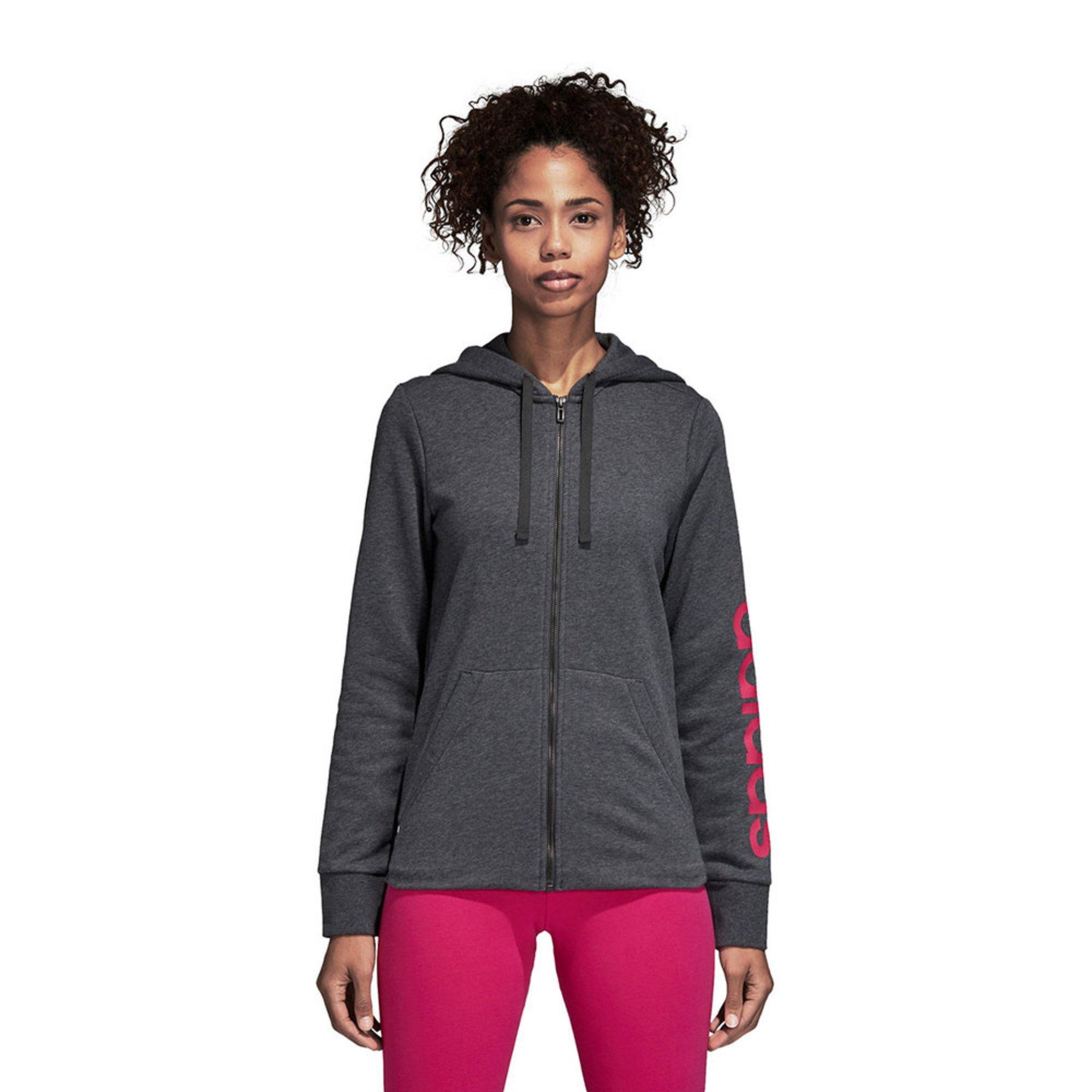 Perfekt Adidas Damen Essentials Linear Full Zip Hoodie S8n63